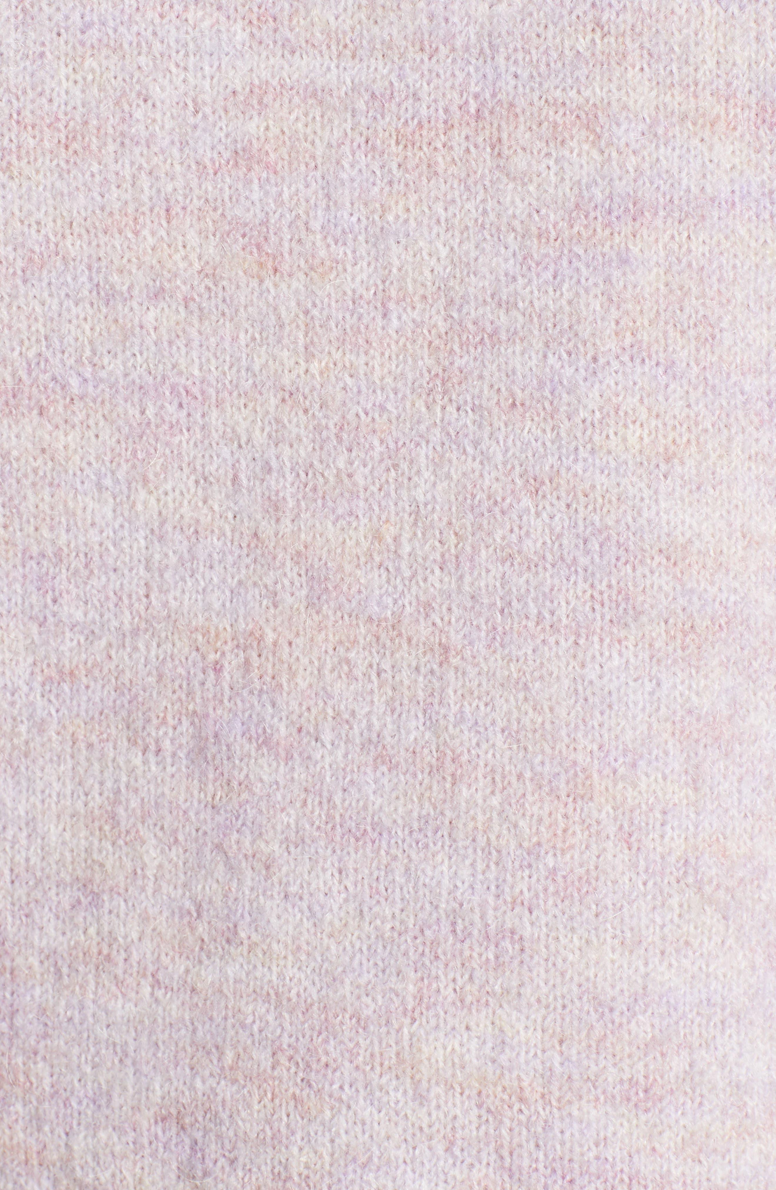 Crewneck Sweater,                             Alternate thumbnail 5, color,                             LILAC MELANGE