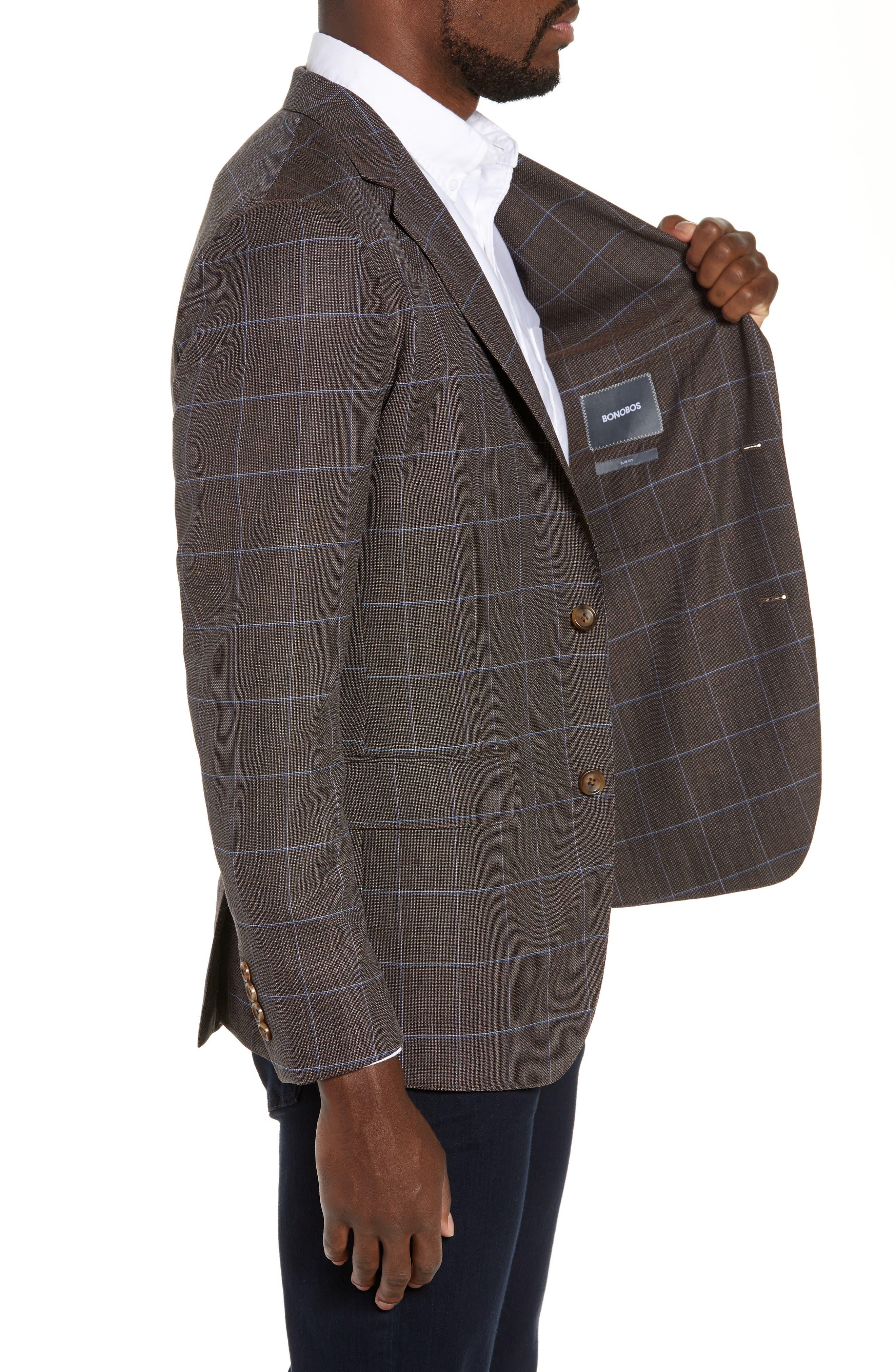 BONOBOS,                             Slim Fit Unconstructed Wool Sport Coat,                             Alternate thumbnail 3, color,                             250