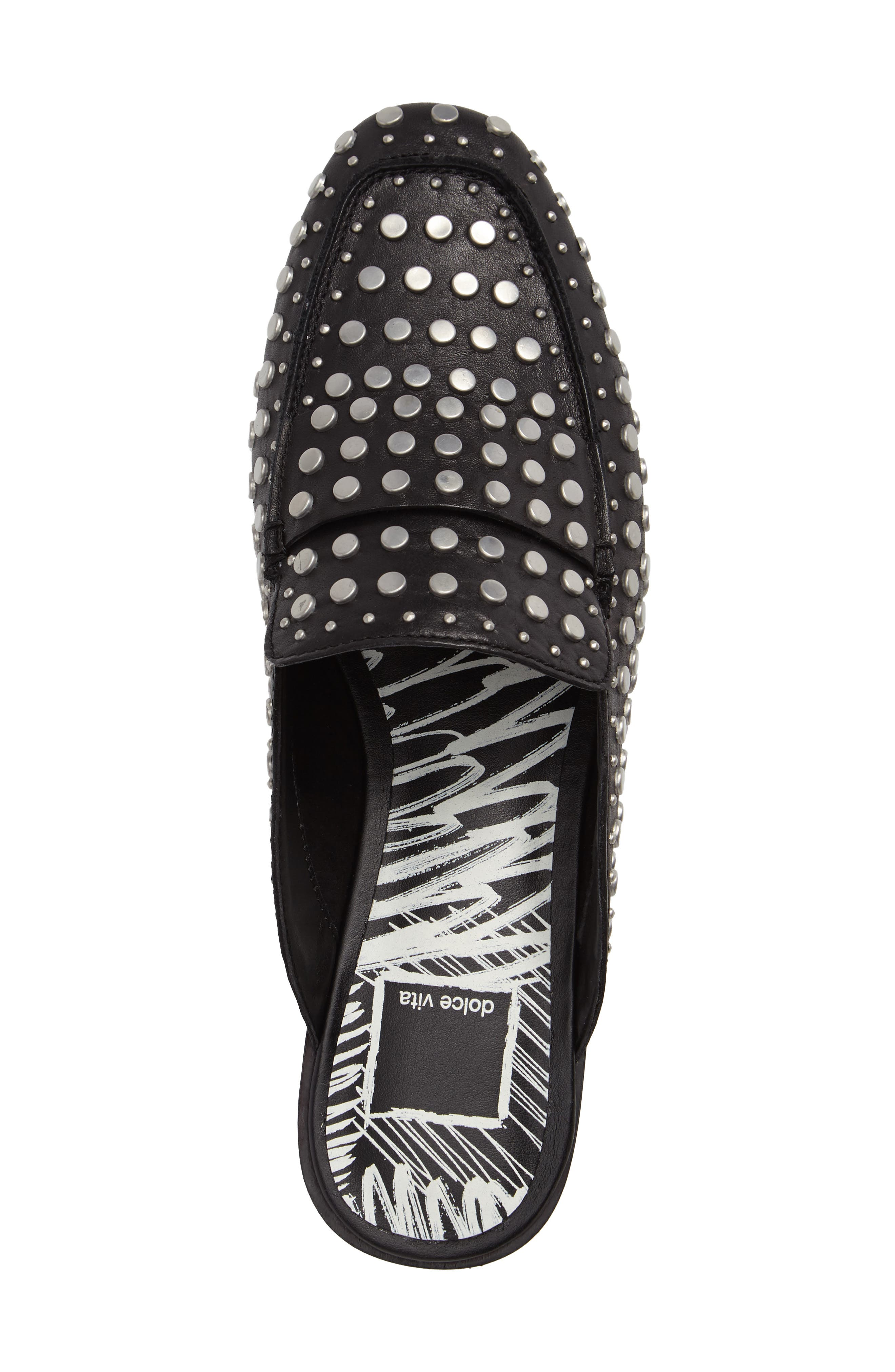 Maura Studded Mule,                             Alternate thumbnail 3, color,                             001