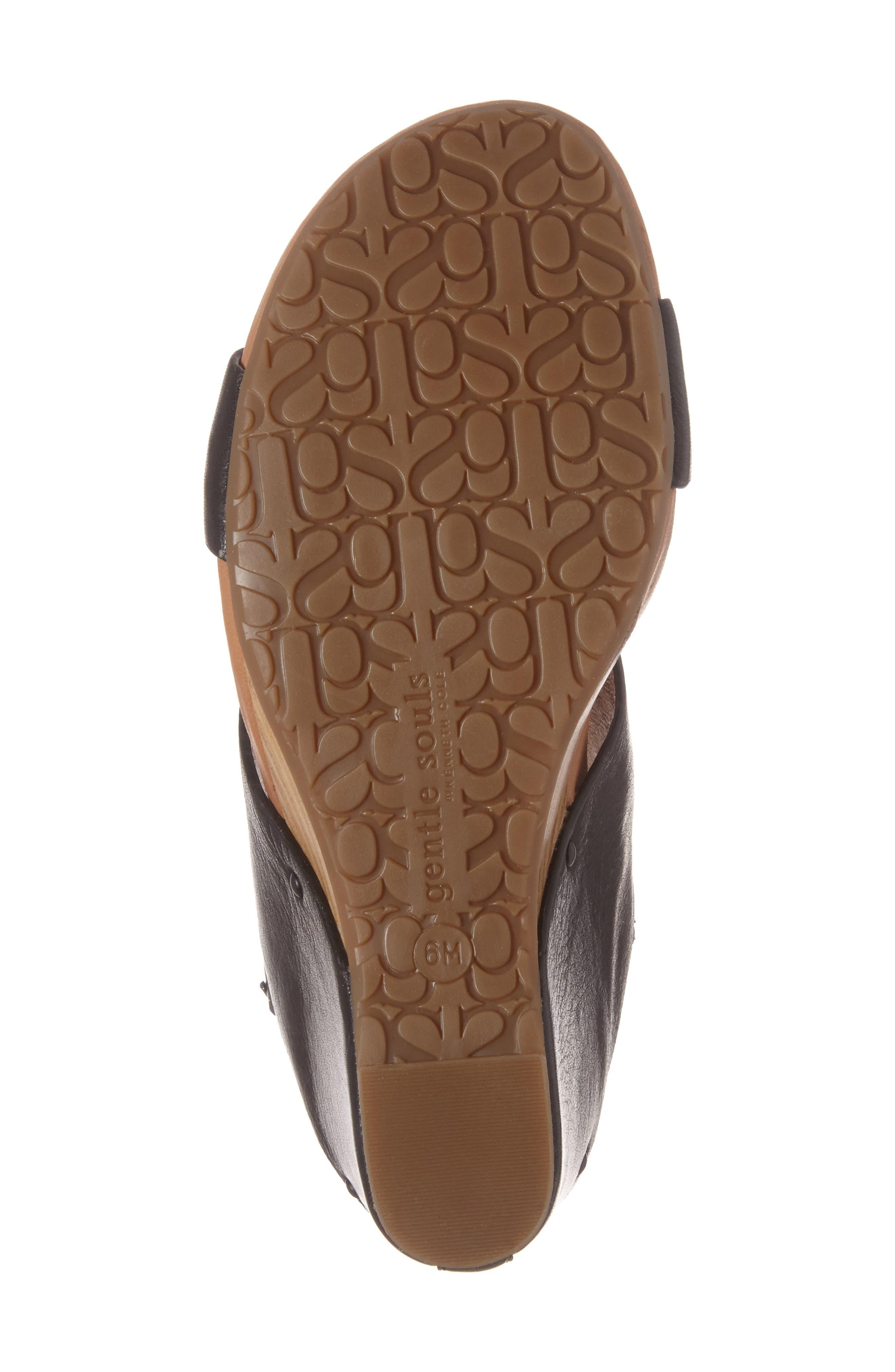 Inka Wedge Sandal,                             Alternate thumbnail 6, color,                             001