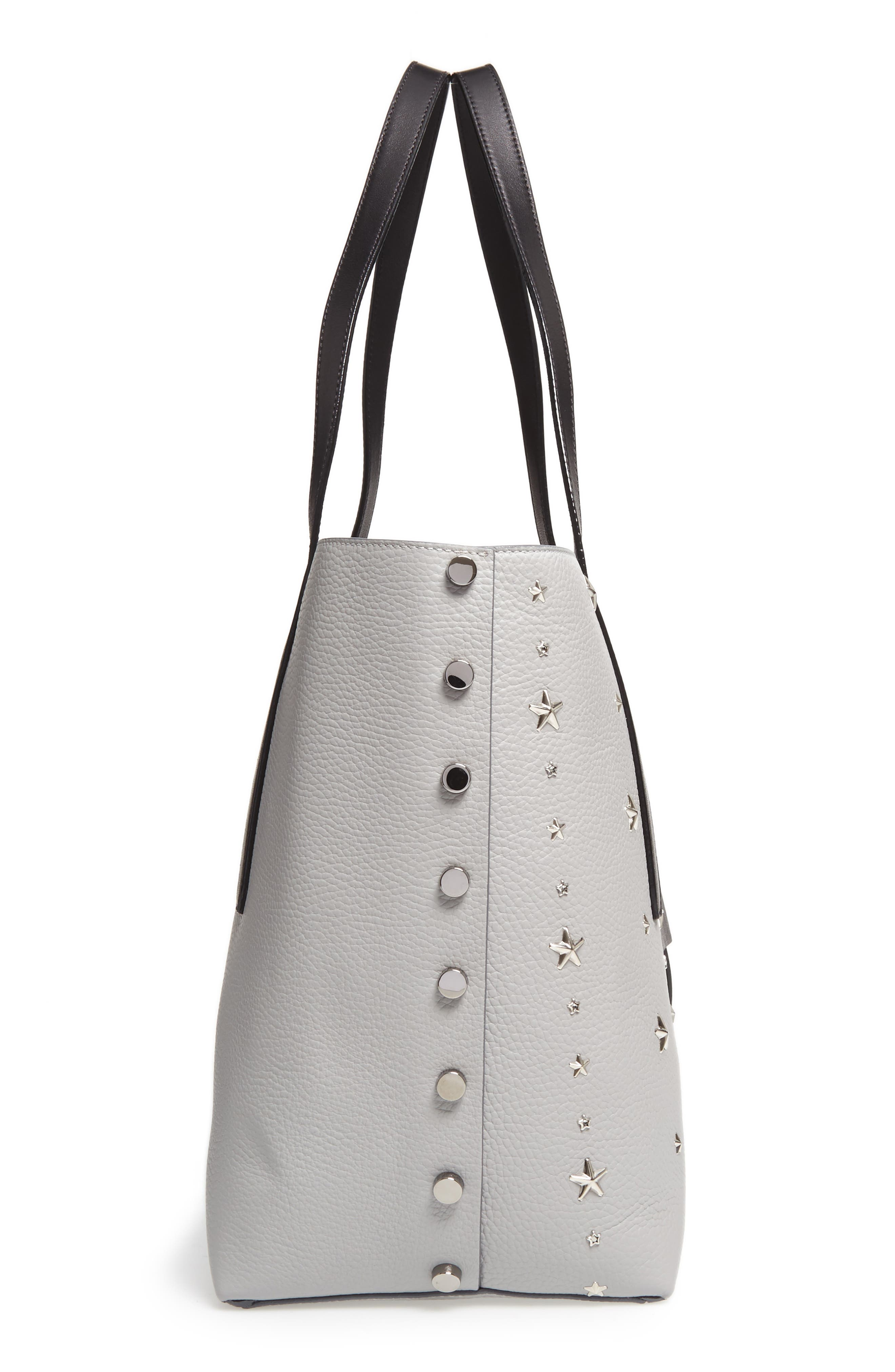 Twist East West Leather Tote,                             Alternate thumbnail 5, color,                             040