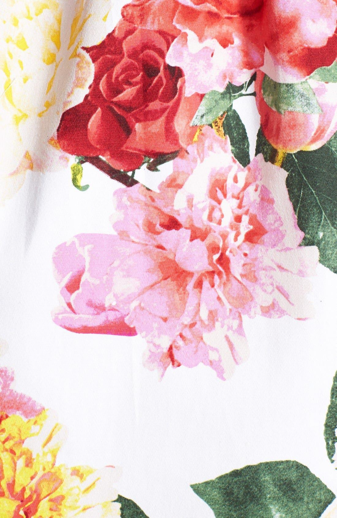 TRIXXI,                             Floral Fit & Flare Dress,                             Alternate thumbnail 2, color,                             650