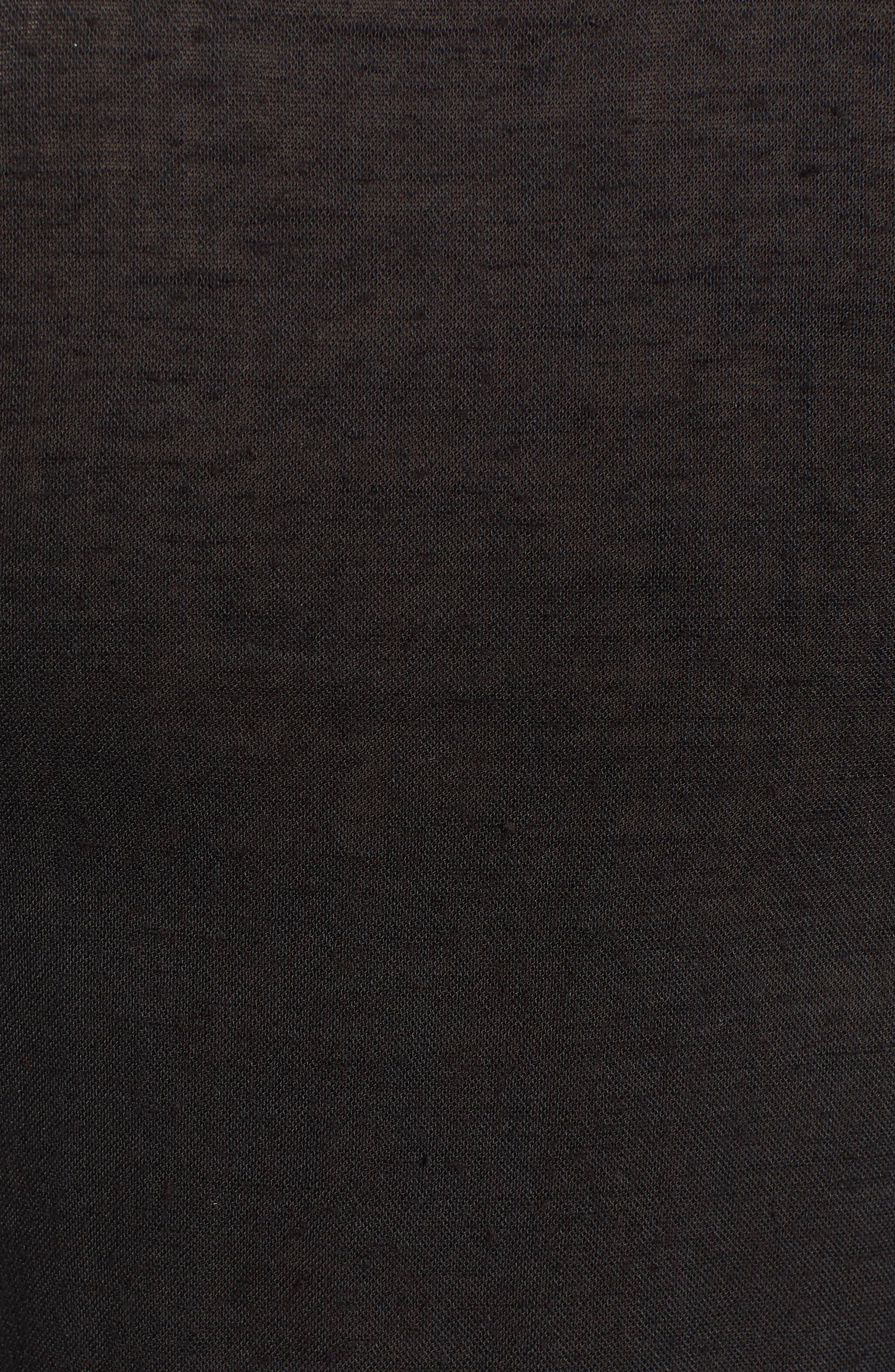 Beaded Peasant Blouse,                             Alternate thumbnail 5, color,                             BLACK
