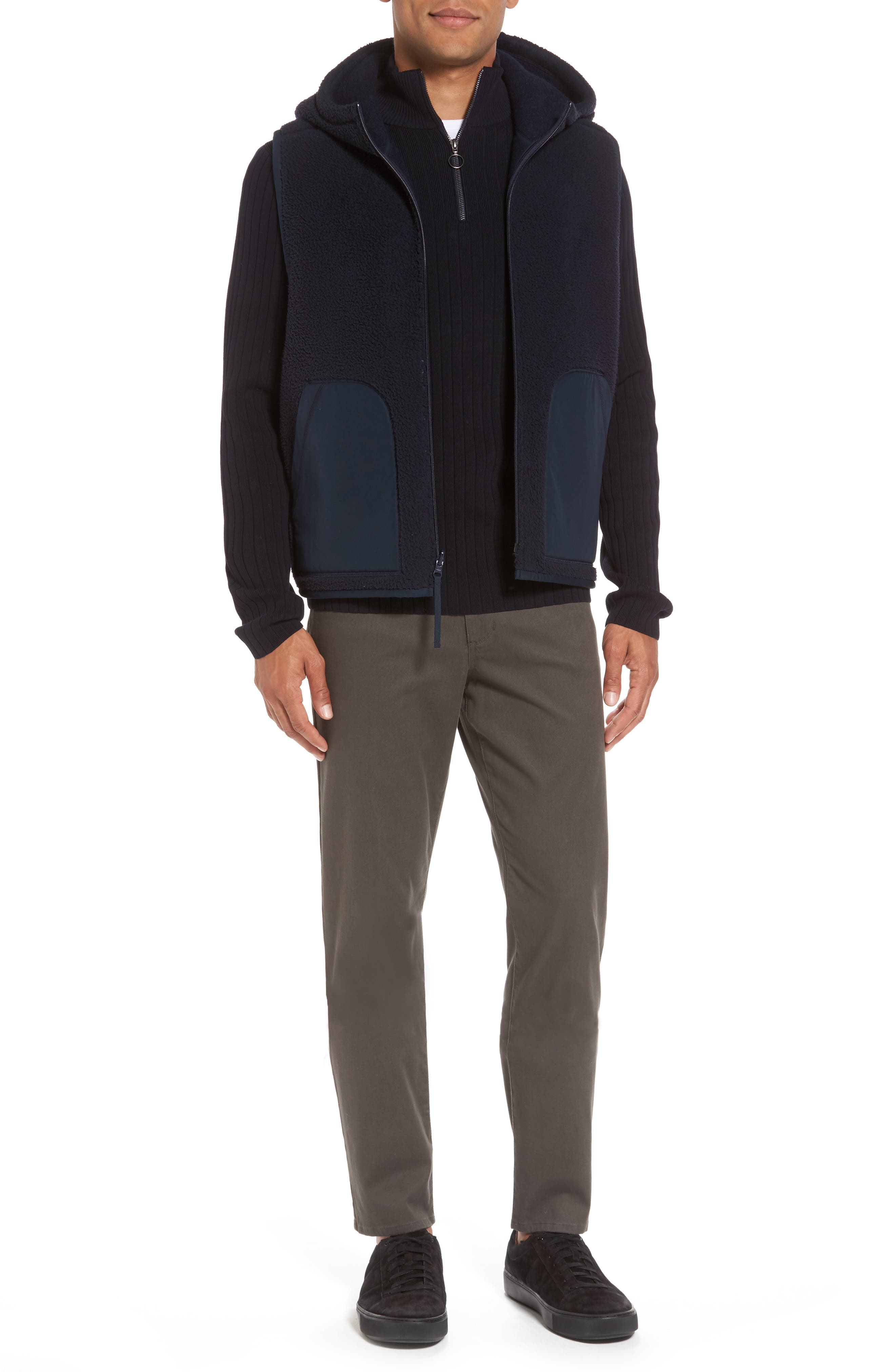 Half Zip Mock Neck Sweater,                             Alternate thumbnail 7, color,                             403