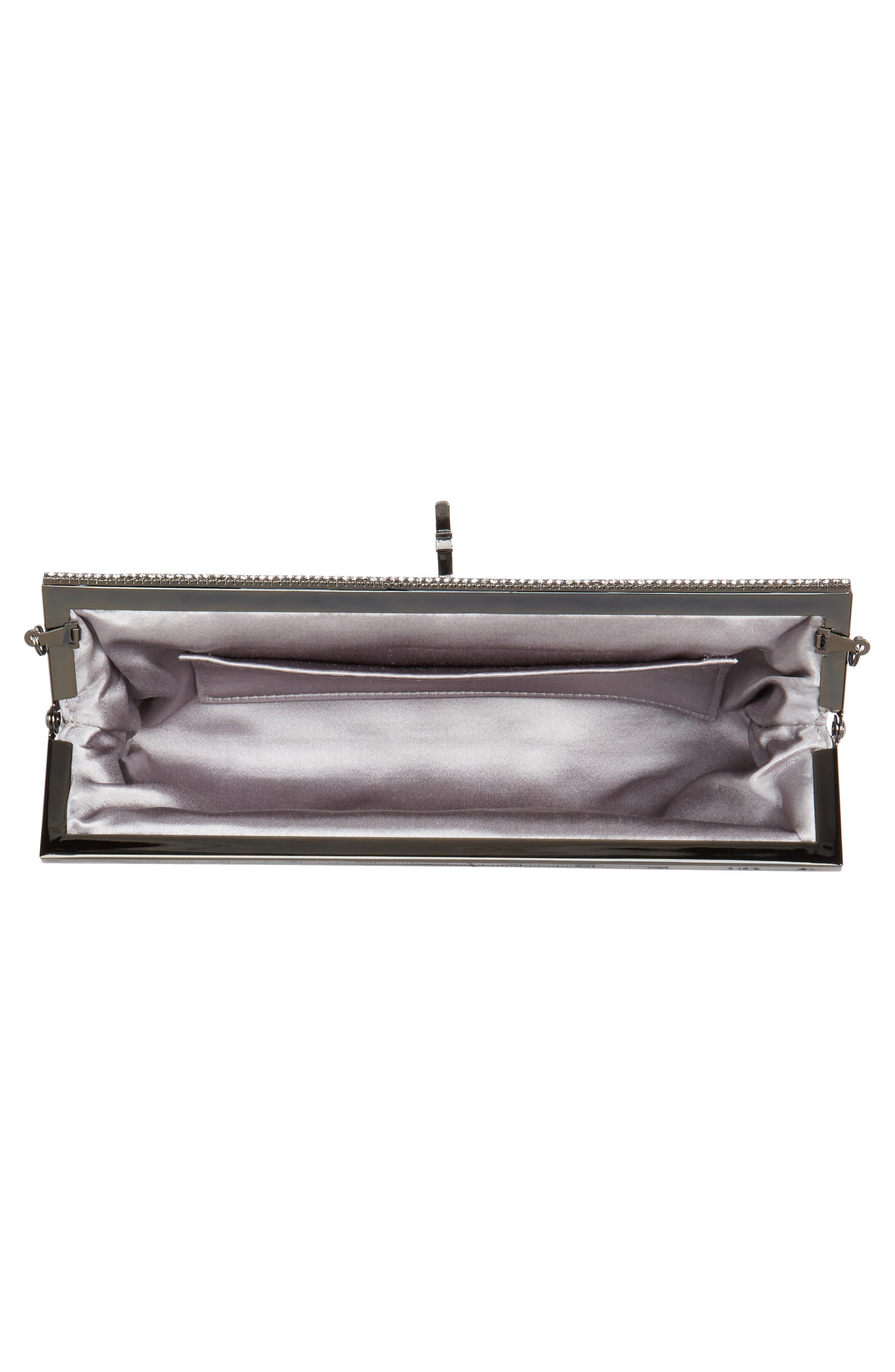 Badgley Mischka Dazzle Sequin Frame Clutch,                             Alternate thumbnail 4, color,                             040