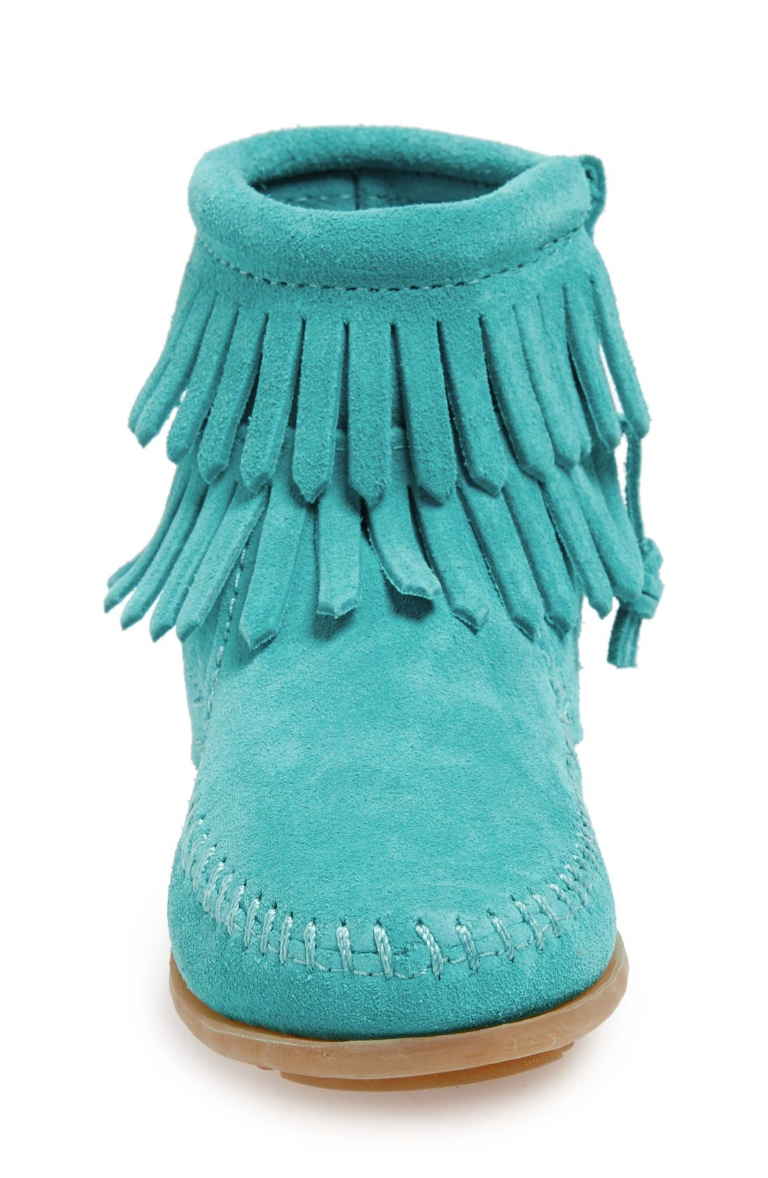 'Double Fringe' Boot,                             Alternate thumbnail 3, color,                             TURQUOISE