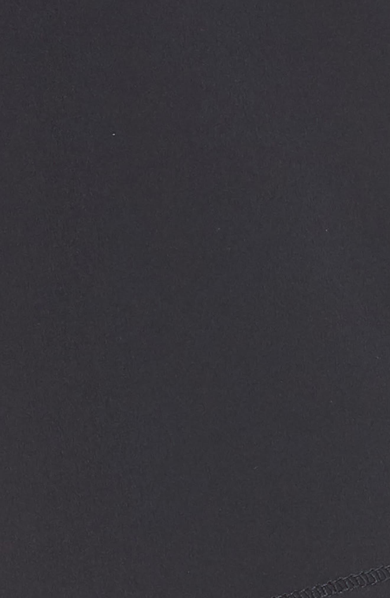 Long Roga Shorts,                             Alternate thumbnail 6, color,                             BLACK