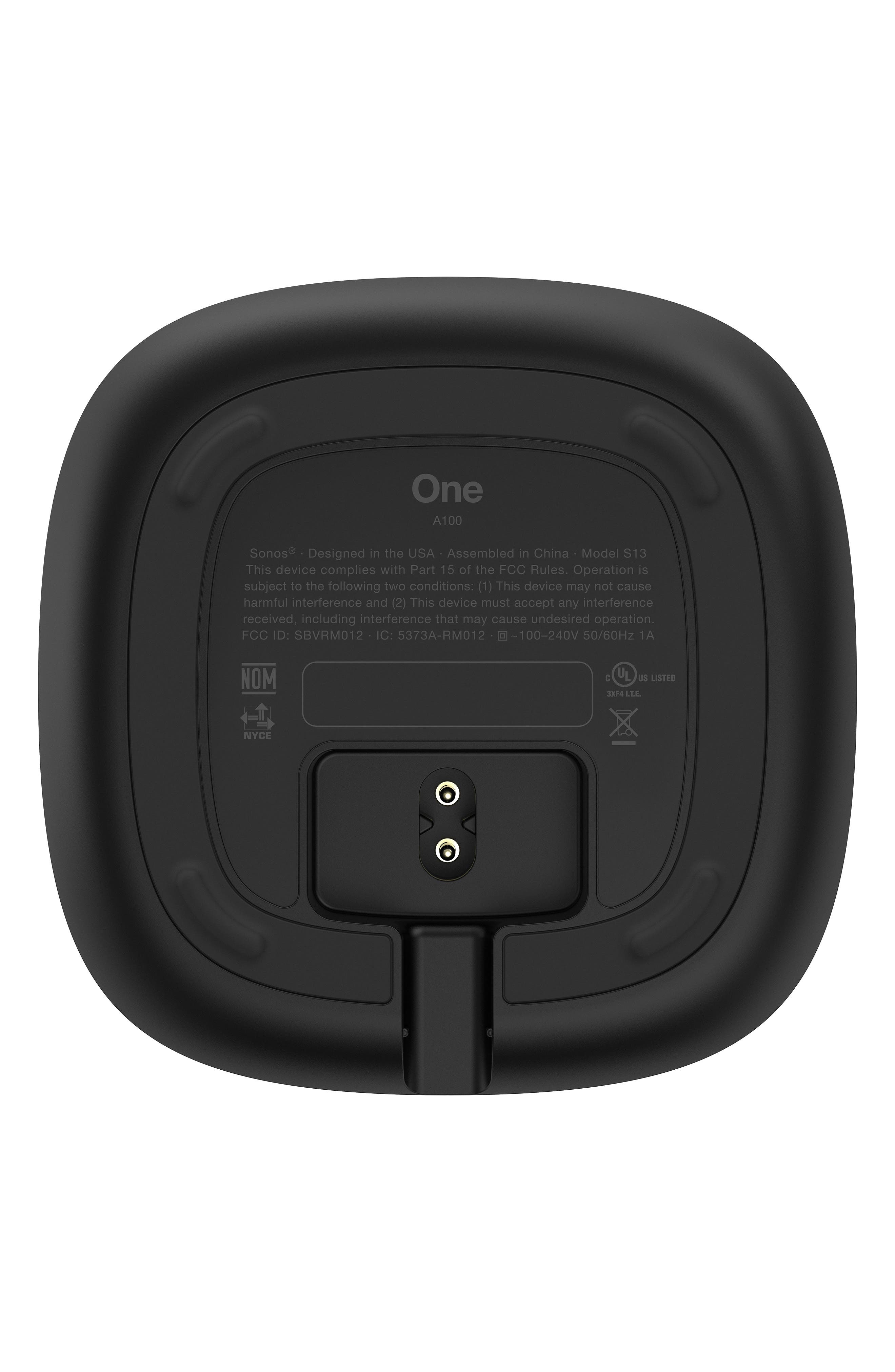 One Voice Controlled Smart Speaker,                             Alternate thumbnail 8, color,                             BLACK