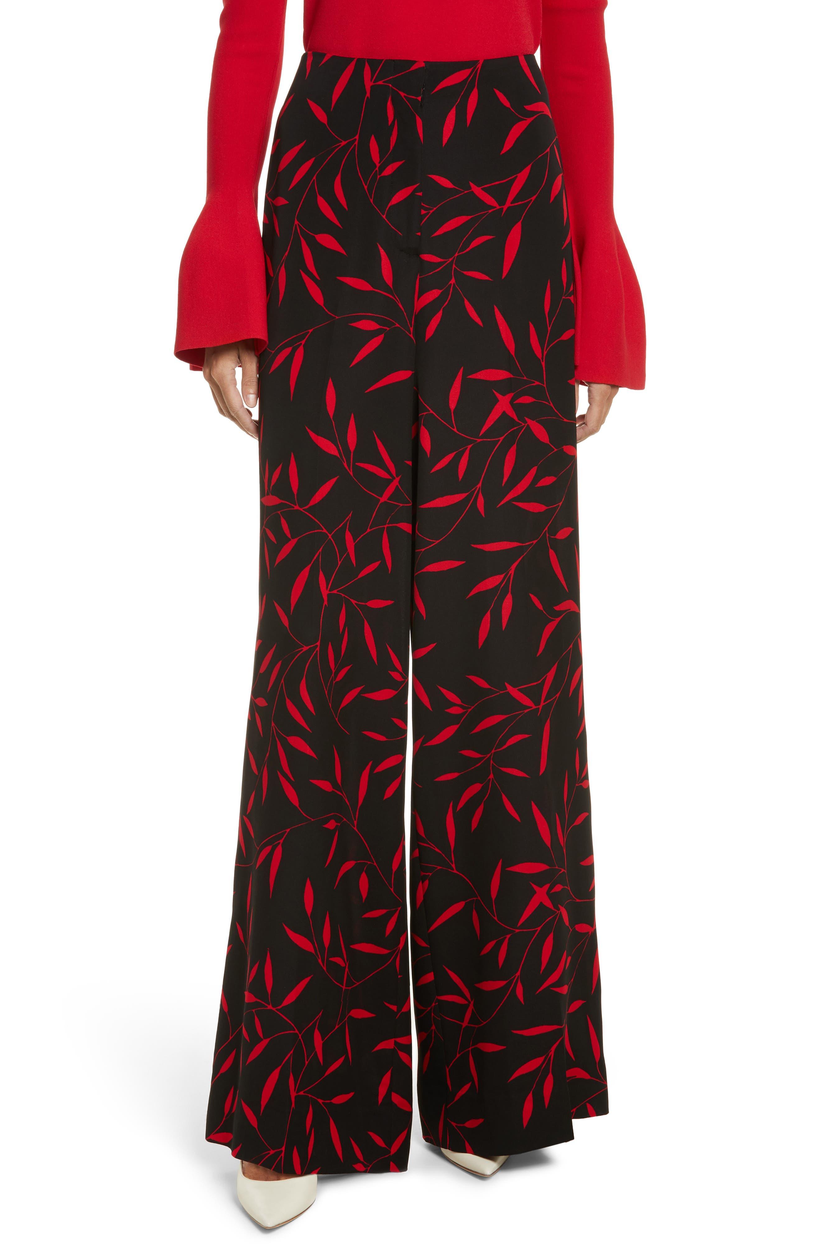Diane von Furstenberg Print Wide Leg Pants,                         Main,                         color,