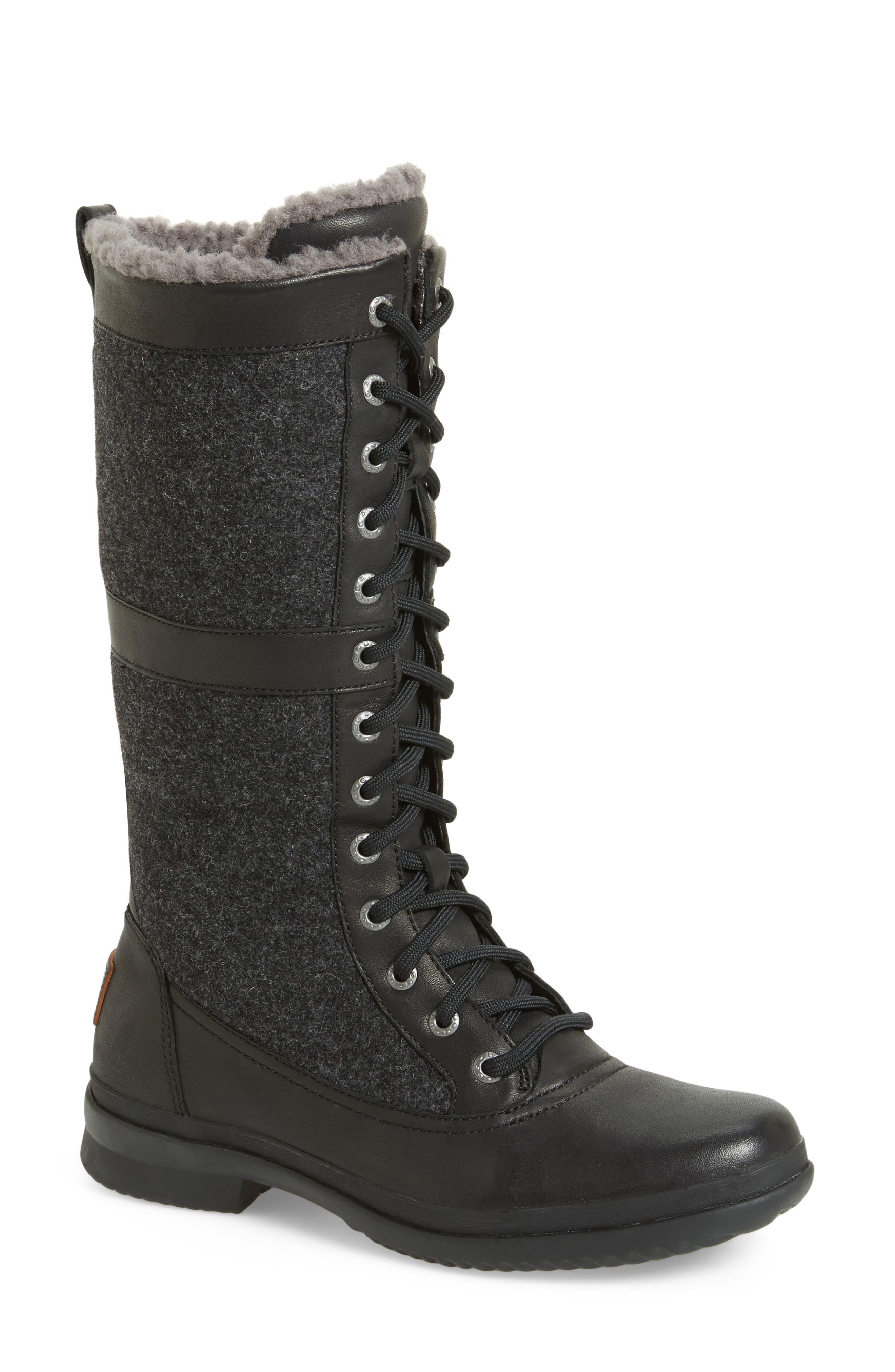Elvia Waterproof Tall Boot,                         Main,                         color, 001