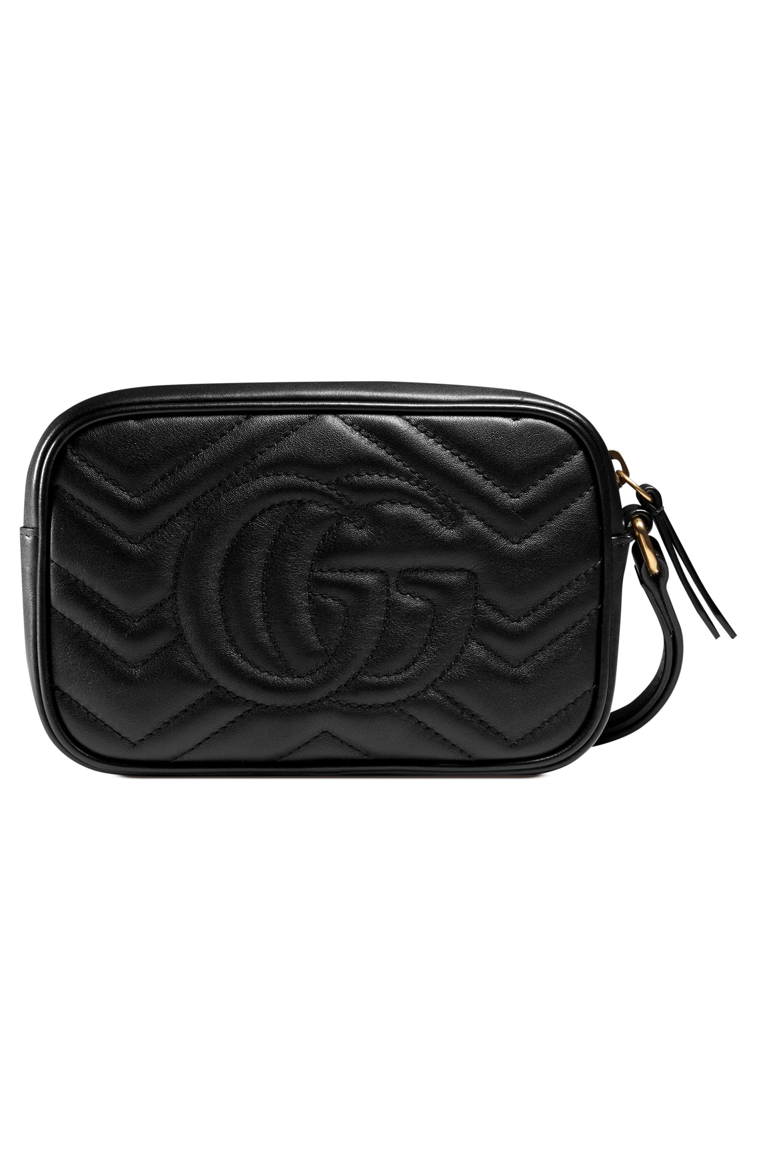 GG Marmont Matelassé Imitation Pearl Leather Shoulder Bag,                             Alternate thumbnail 3, color,