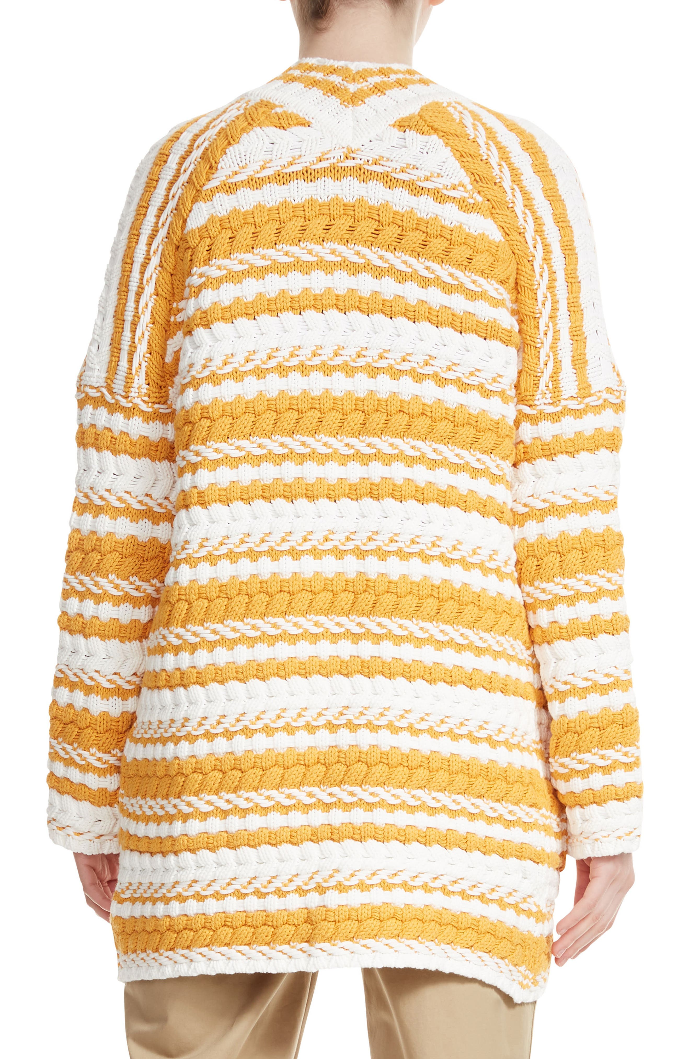 Milio Chunky Stripe Cotton Blend Cardigan,                             Alternate thumbnail 2, color,                             900