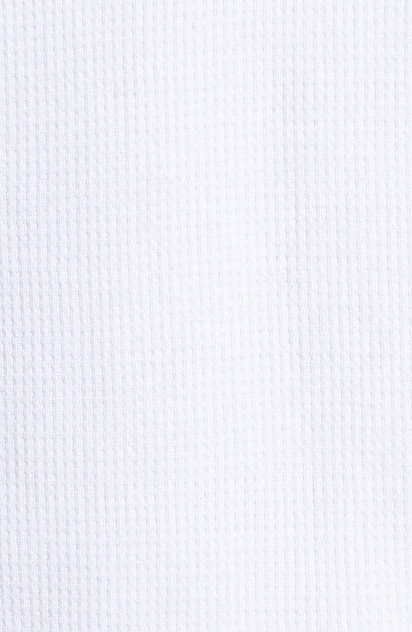 Waffle Knit Henley,                             Alternate thumbnail 5, color,                             BRIGHT WHITE
