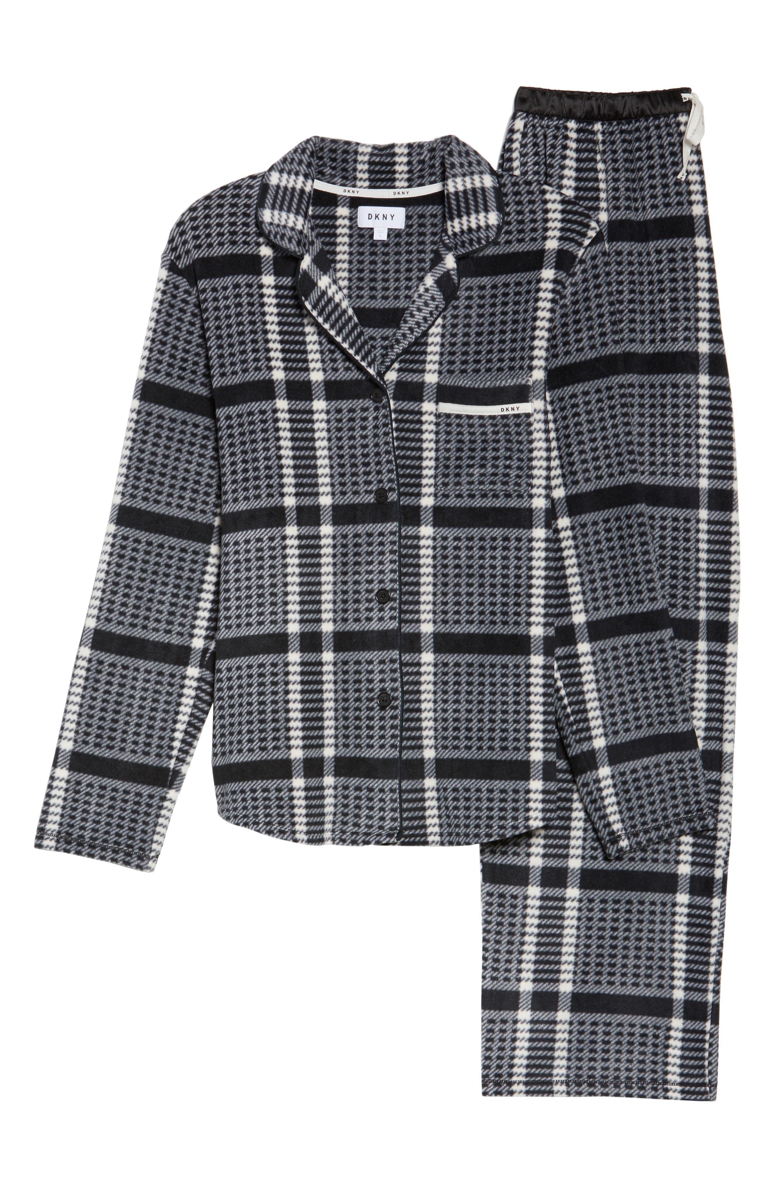 Stretch Fleece Long Pajamas,                             Alternate thumbnail 6, color,                             005