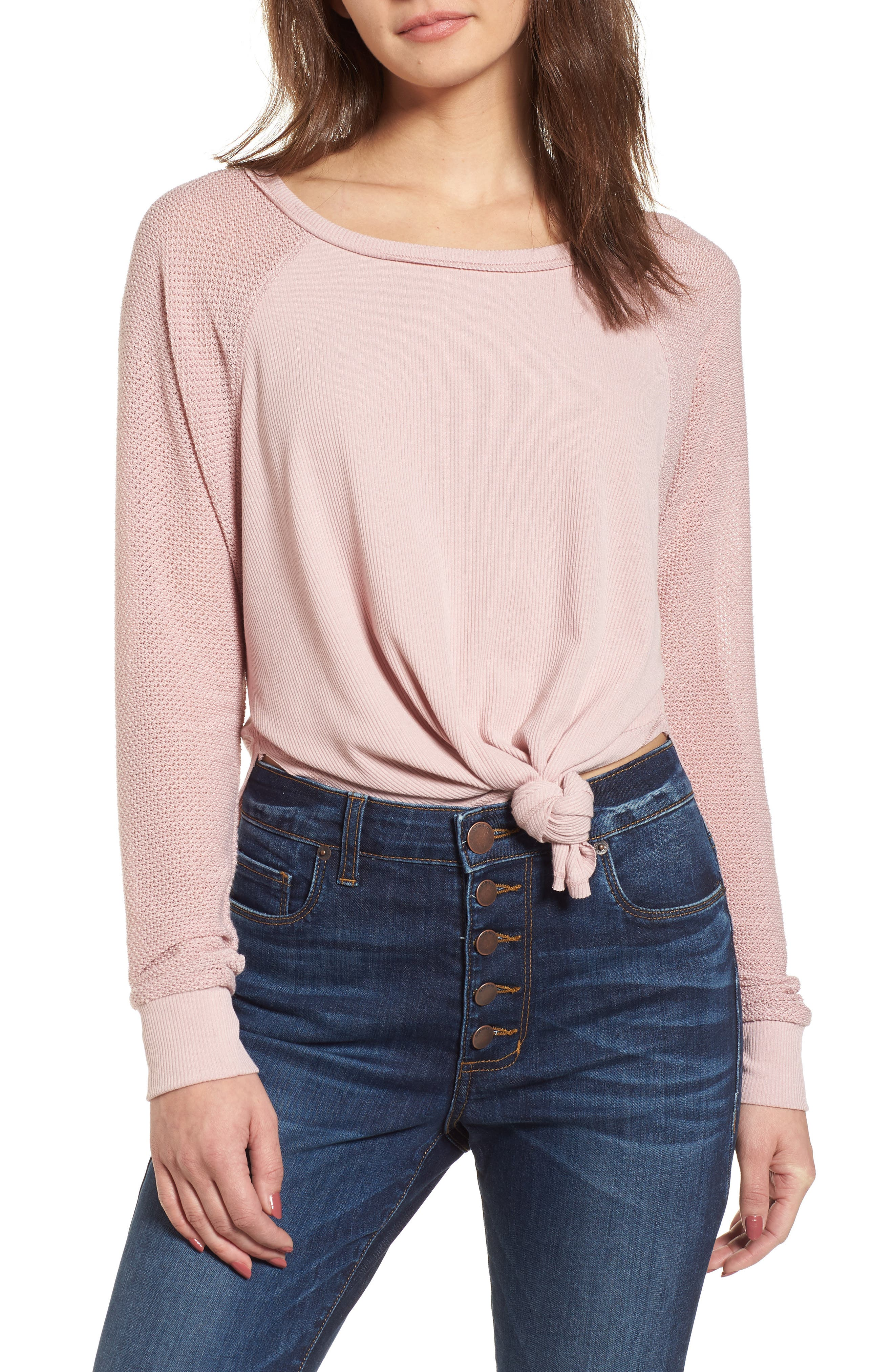 Contrast Sleeve Thermal Top,                             Main thumbnail 2, color,