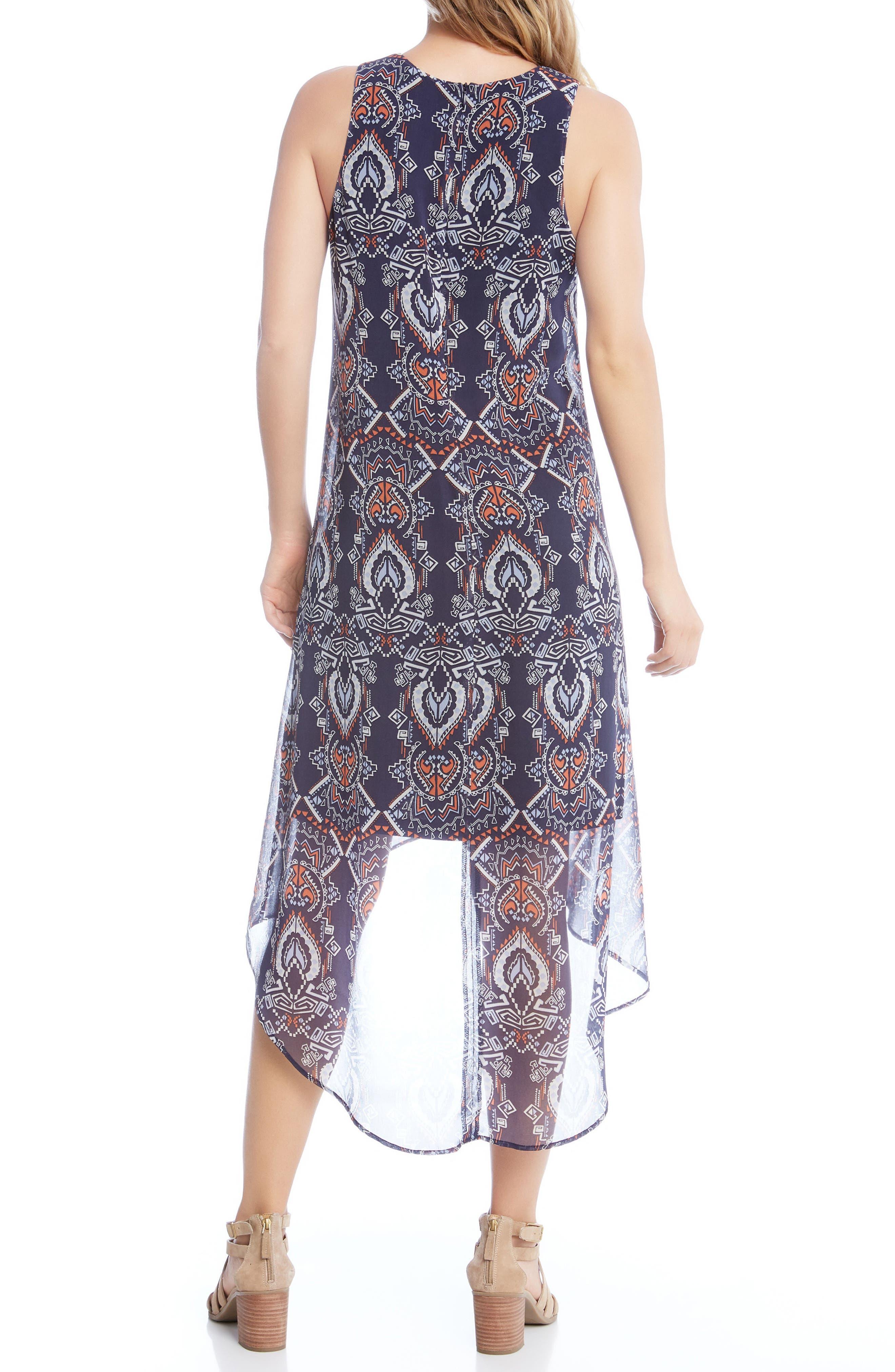 High/Low Chiffon Dress,                             Alternate thumbnail 2, color,