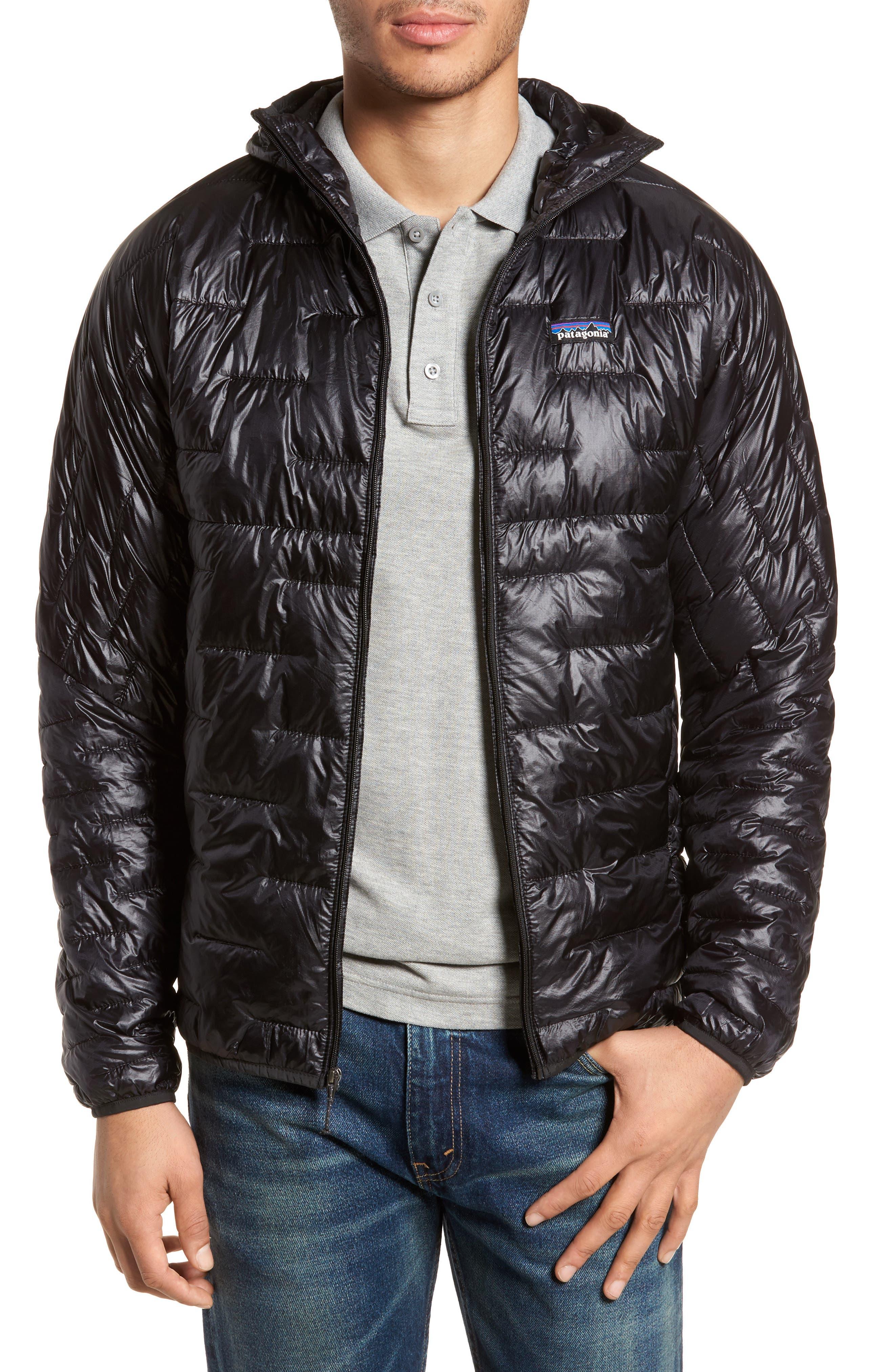 Micro Puff Jacket,                             Main thumbnail 1, color,                             BLACK