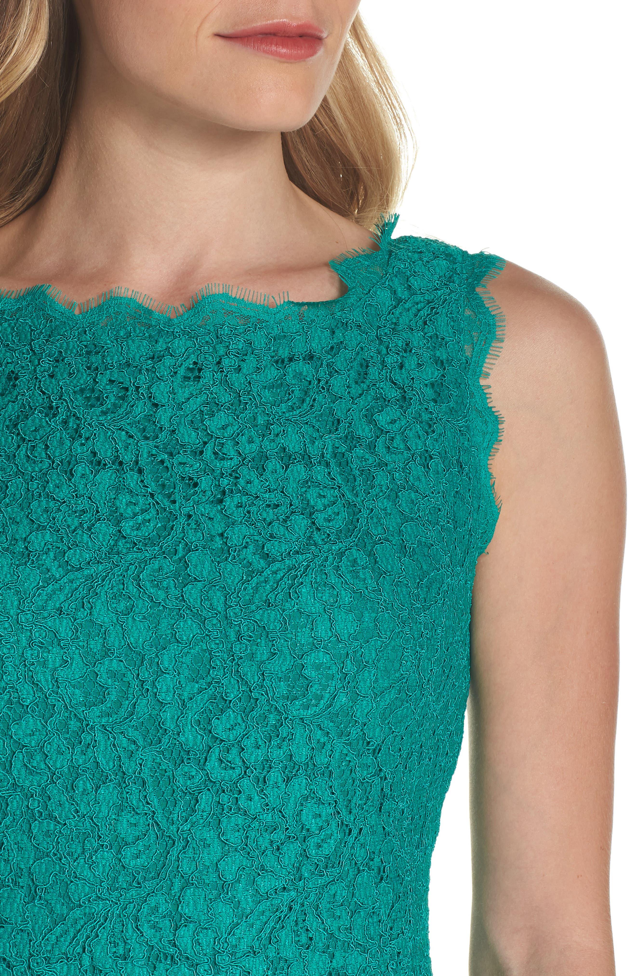 Boatneck Lace Sheath Dress,                             Alternate thumbnail 123, color,