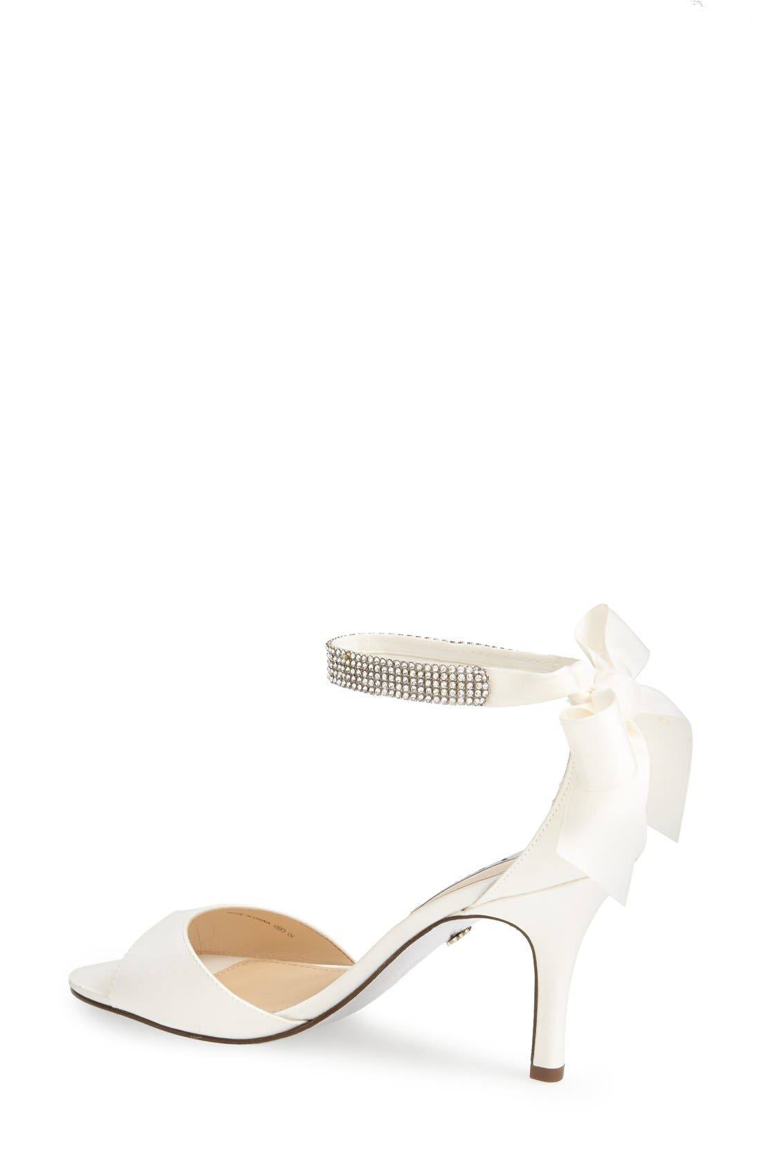 'Vinnie' Crystal Embellished Ankle Strap Sandal,                             Alternate thumbnail 2, color,                             IVORY