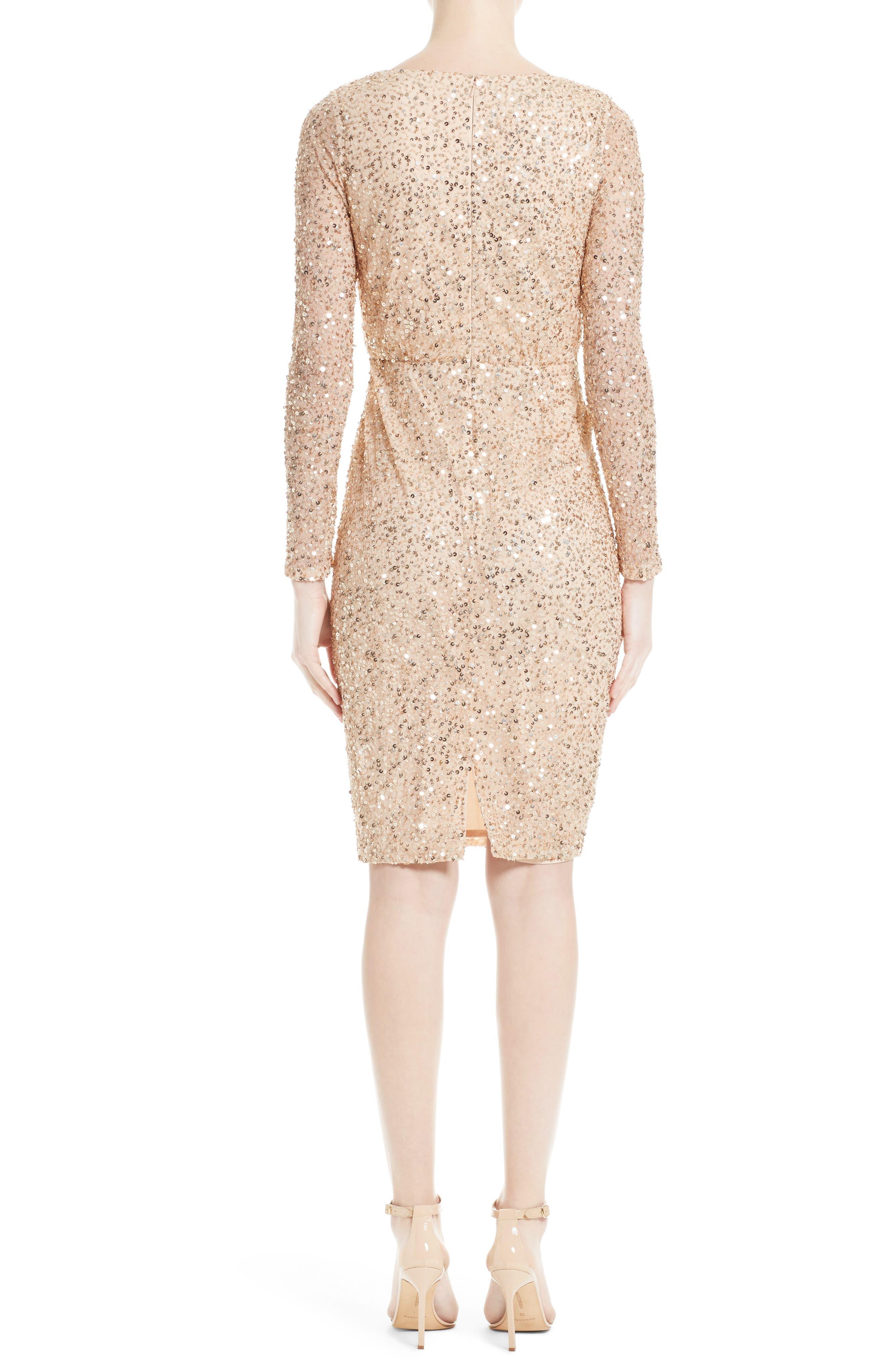 Sequin Body-Con Dress,                             Alternate thumbnail 2, color,                             710