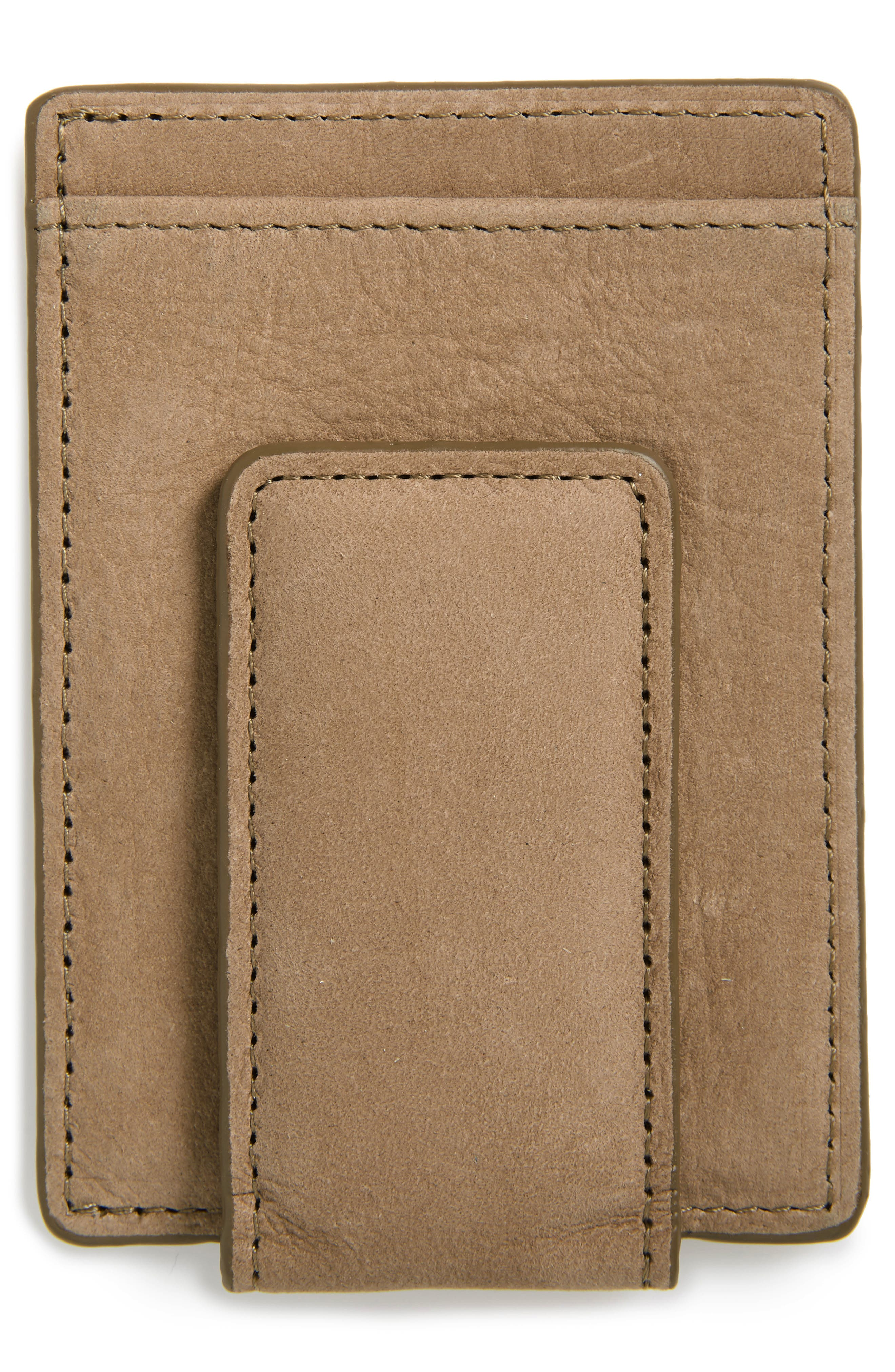 Upton RFID Leather Money Clip Card Case,                             Alternate thumbnail 2, color,                             TAN DUSK