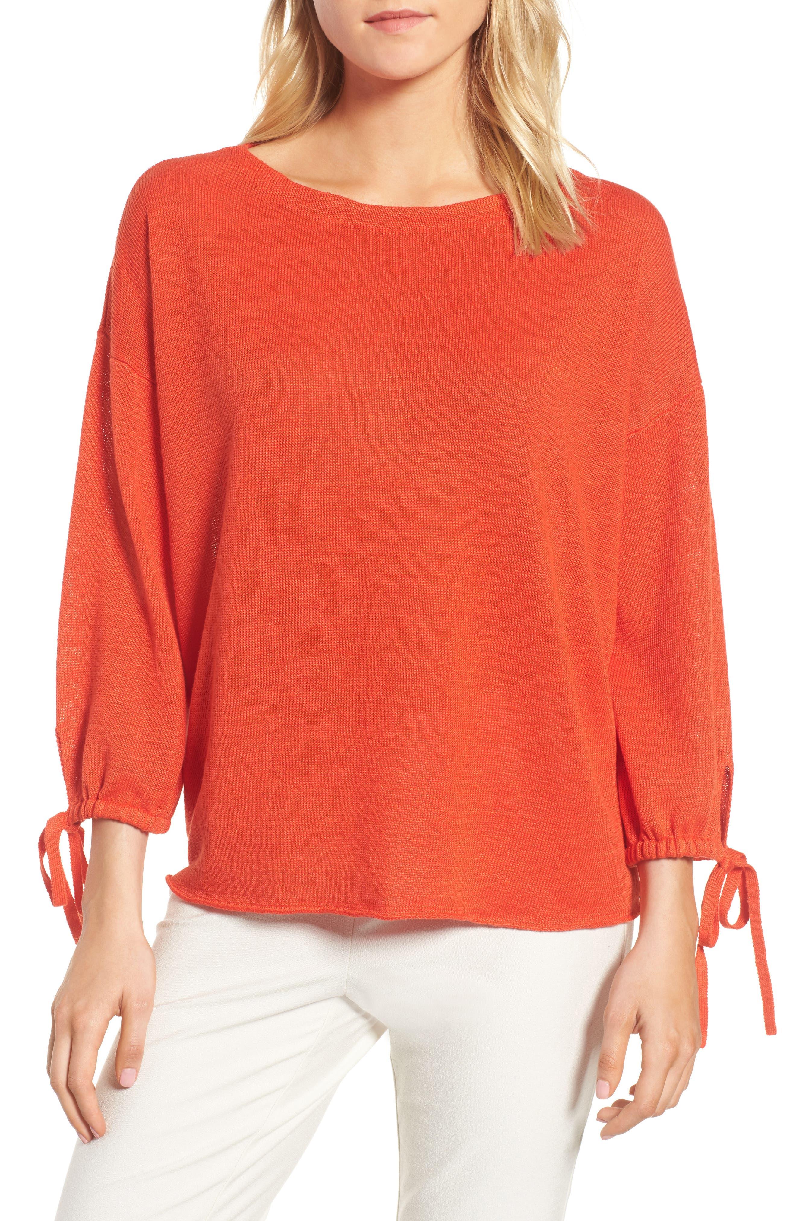 Organic Linen Sweater,                             Main thumbnail 4, color,