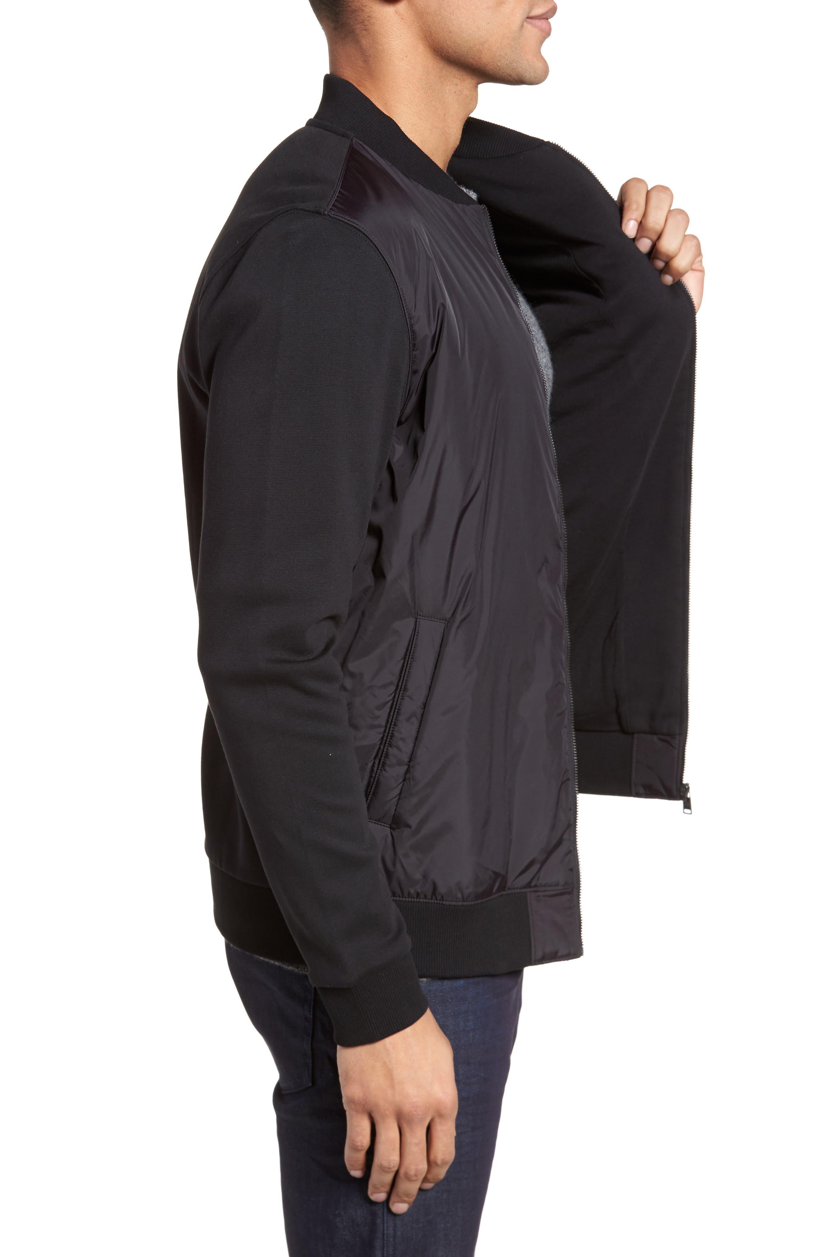 Shepherd Regular Fit Bomber Jacket,                             Alternate thumbnail 3, color,                             001