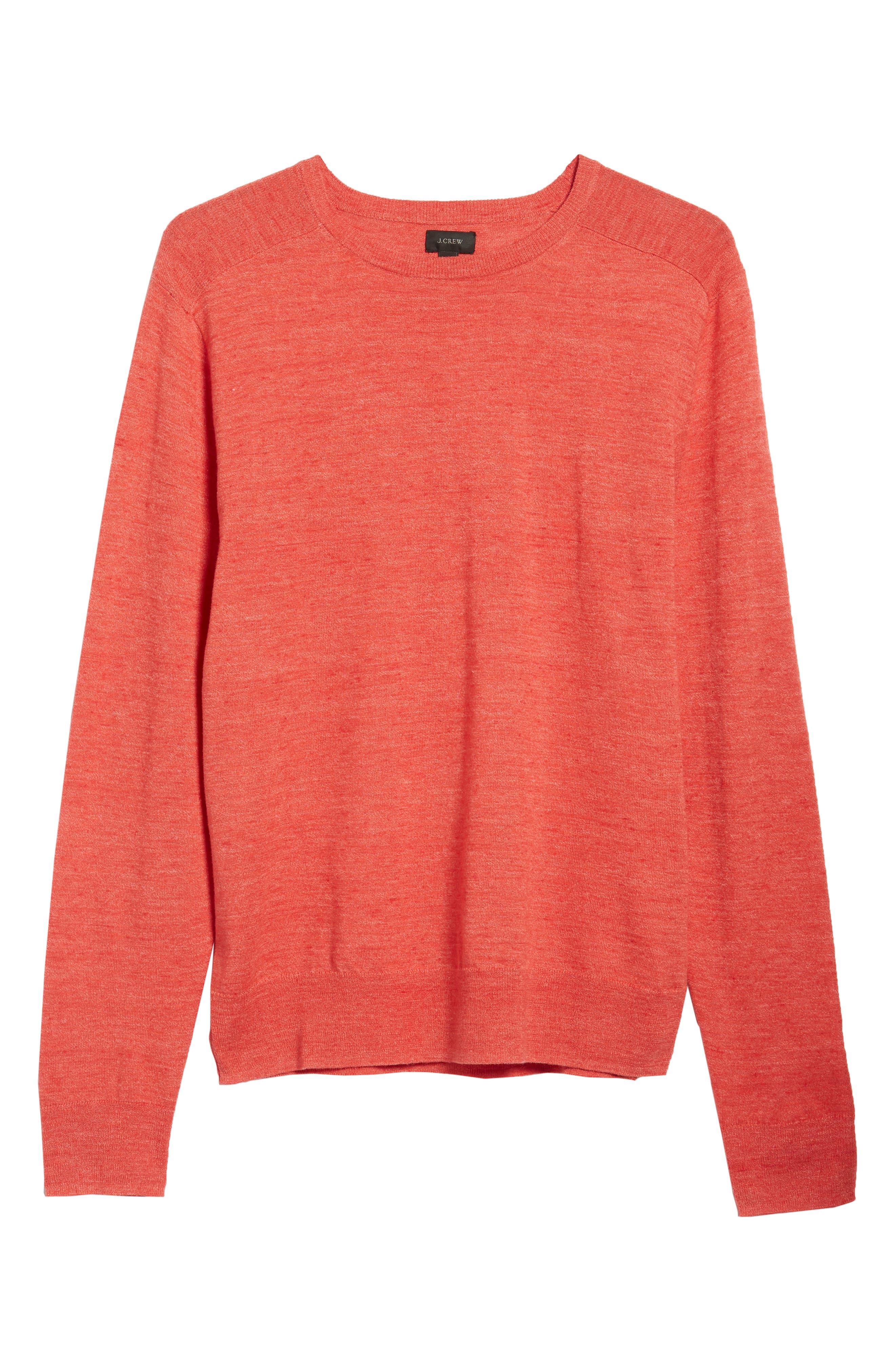 Cotton Blend Crewneck Sweater,                             Alternate thumbnail 24, color,