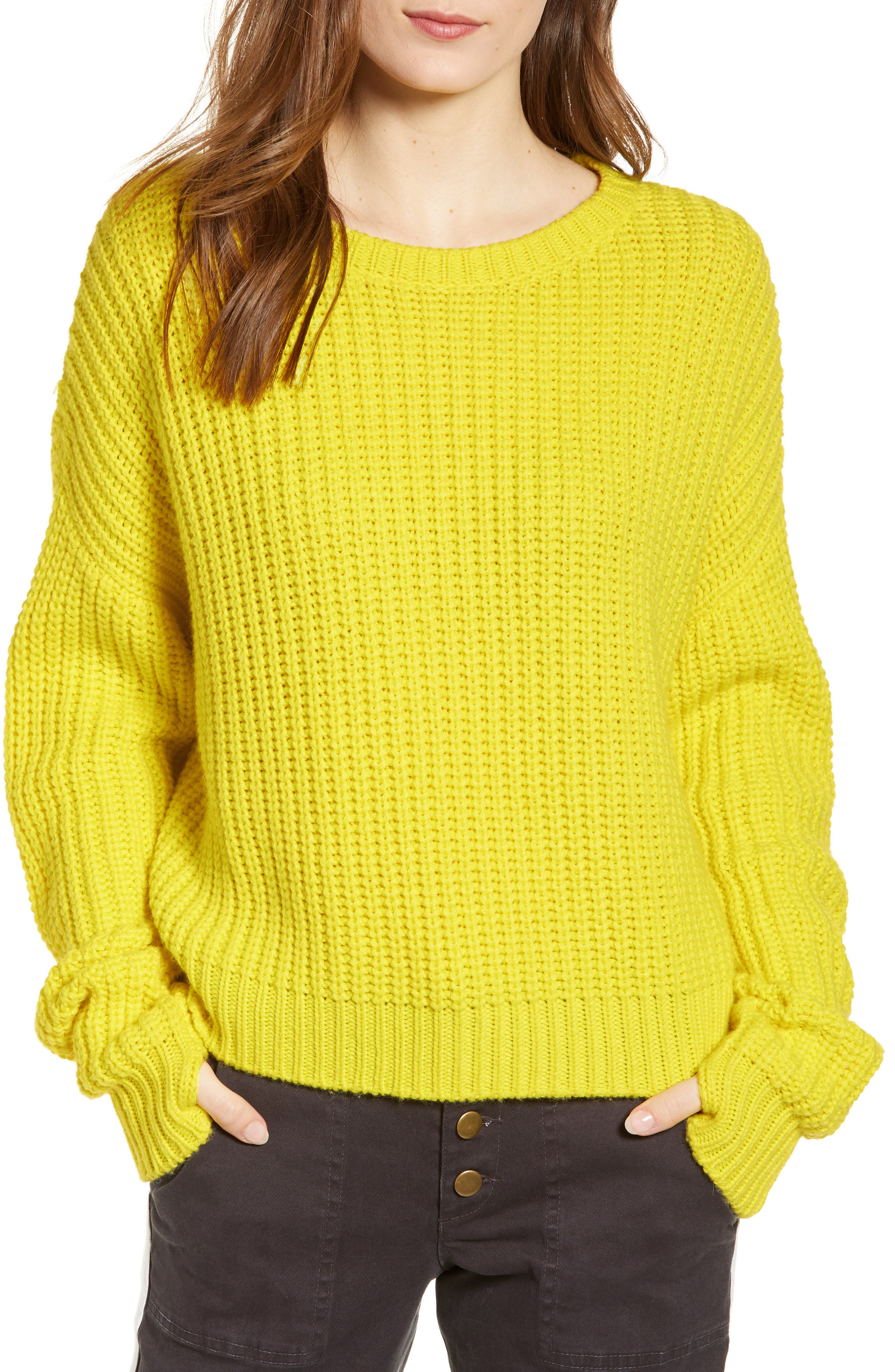 High/Low Sweater, Main, color, HIGHLIGHT