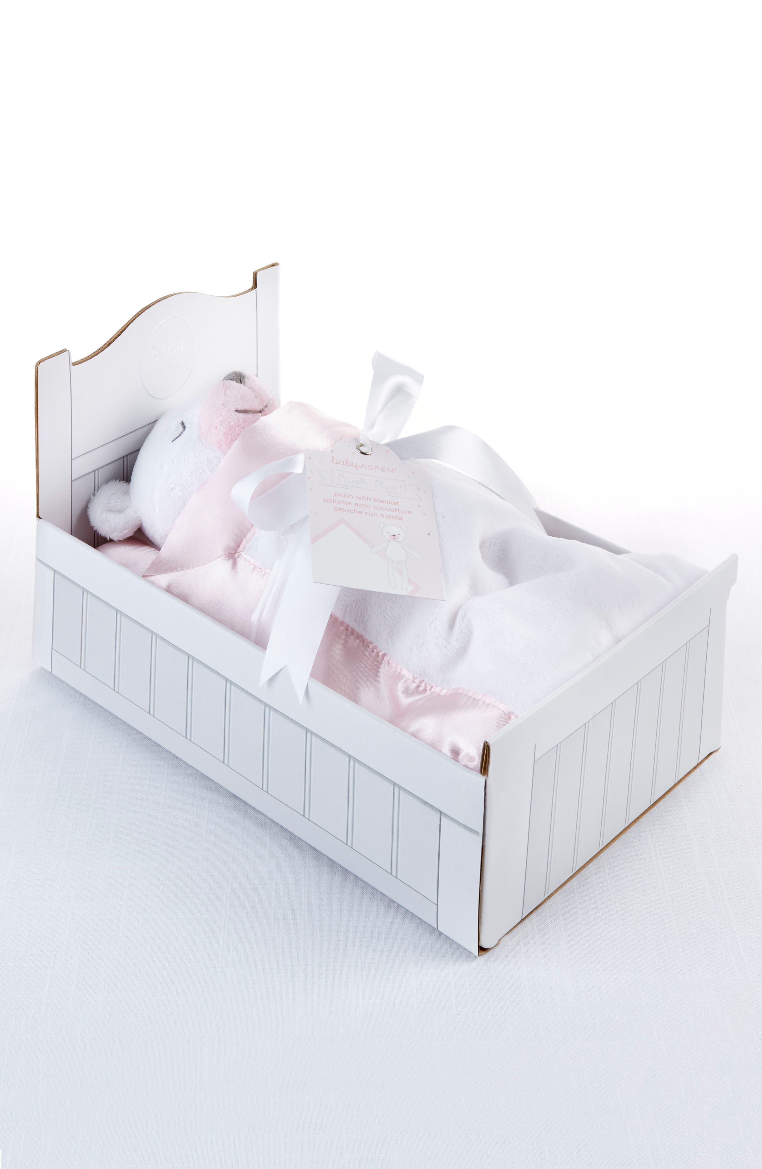 Beary Sleepy - Plush Plus Stuffed Animal & Blanket Set,                             Alternate thumbnail 3, color,                             PINK