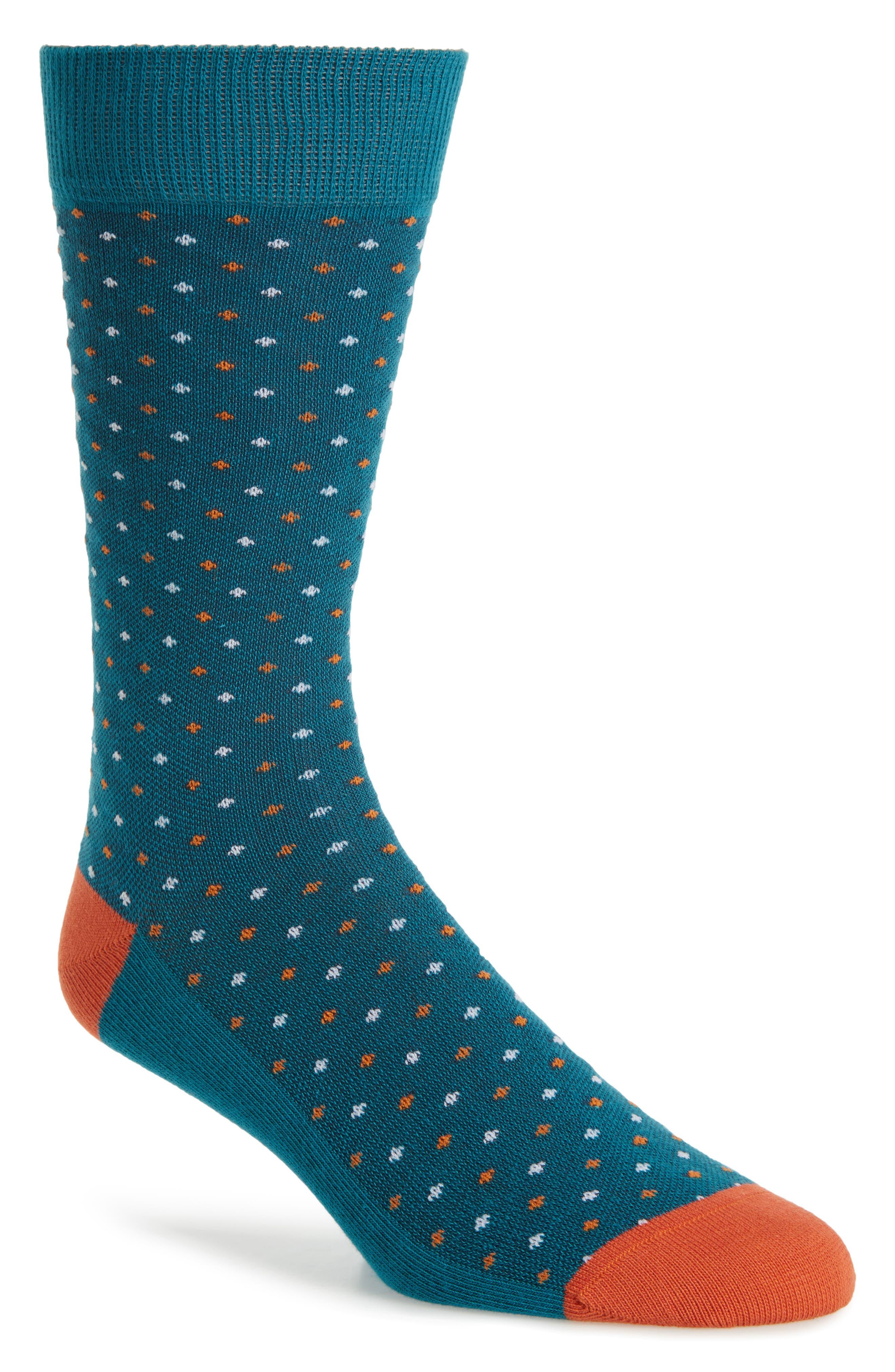 Bird's Eye Crew Socks,                             Main thumbnail 1, color,                             420