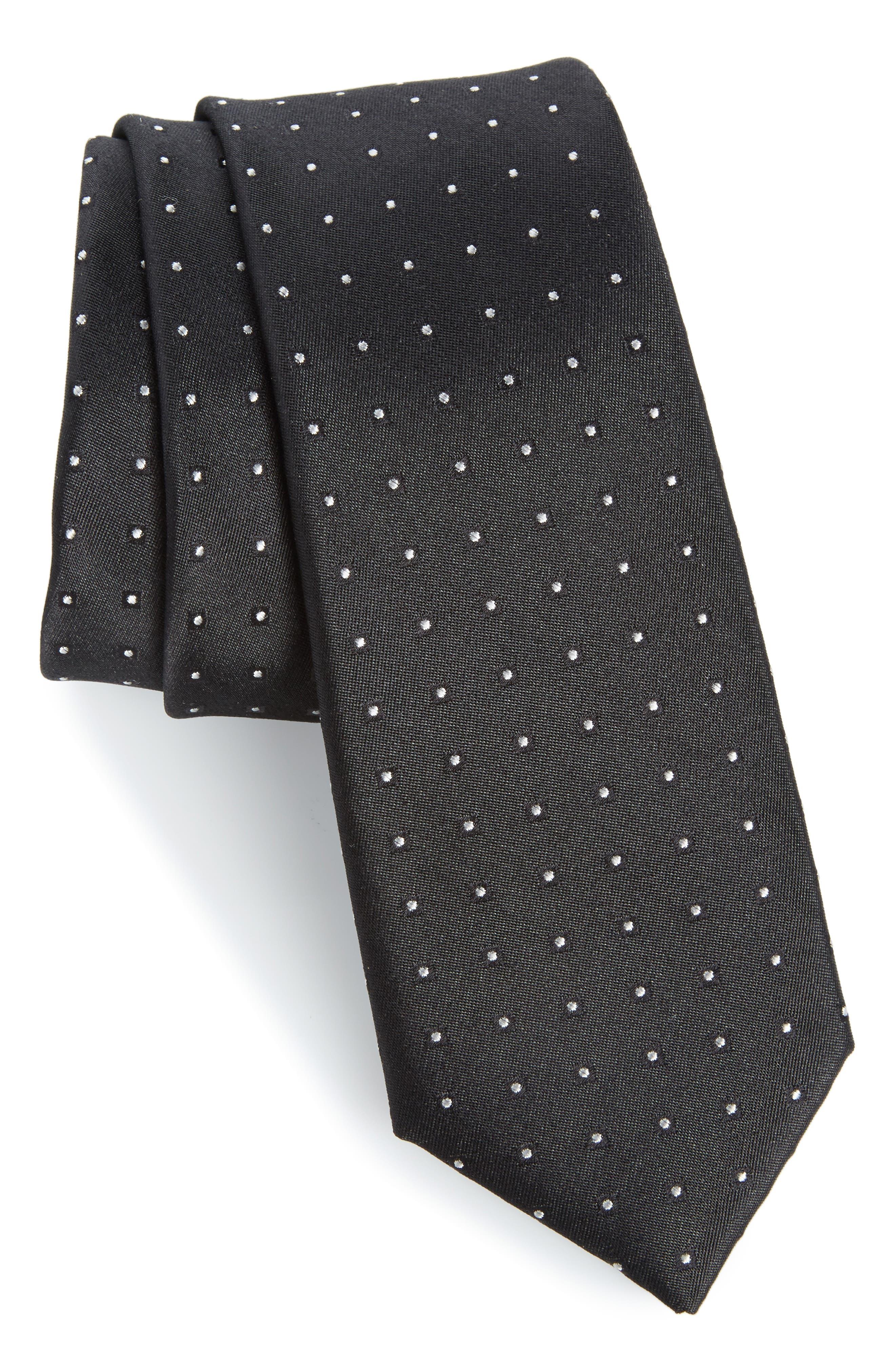 Descrete Geometric Silk Tie,                         Main,                         color, 001