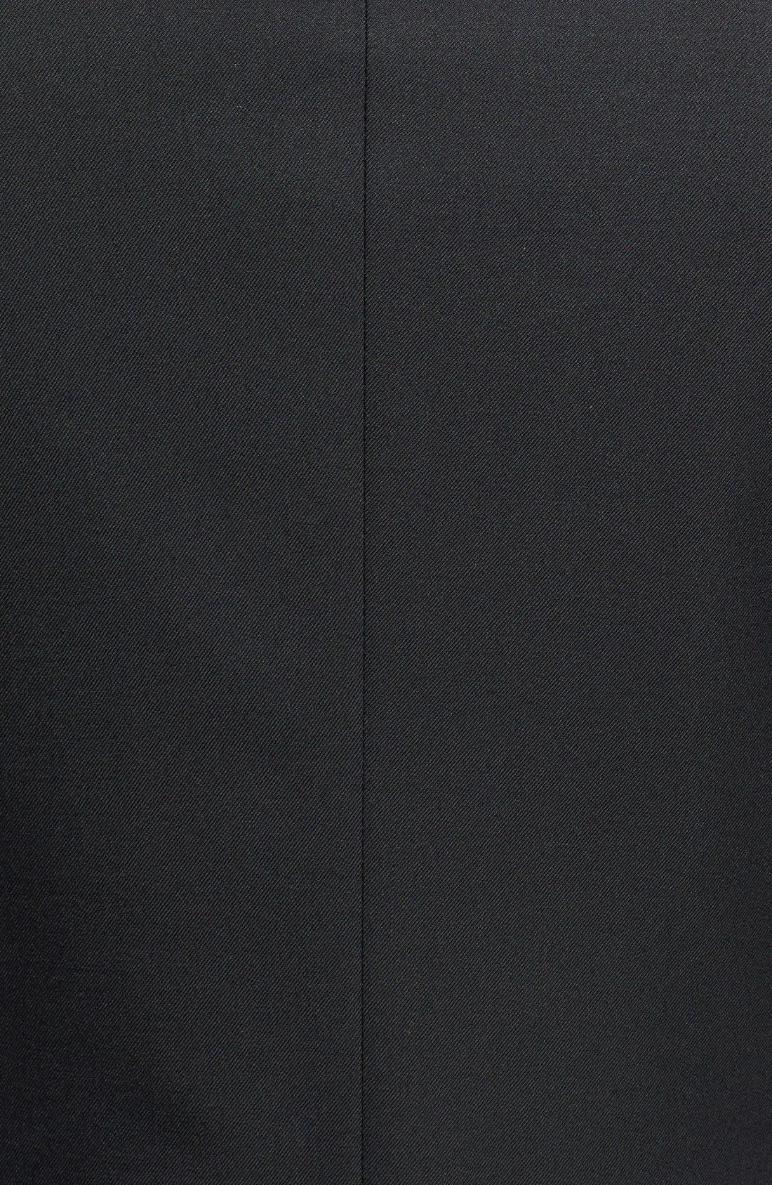 Trim Fit Wool Blazer,                             Alternate thumbnail 3, color,                             001