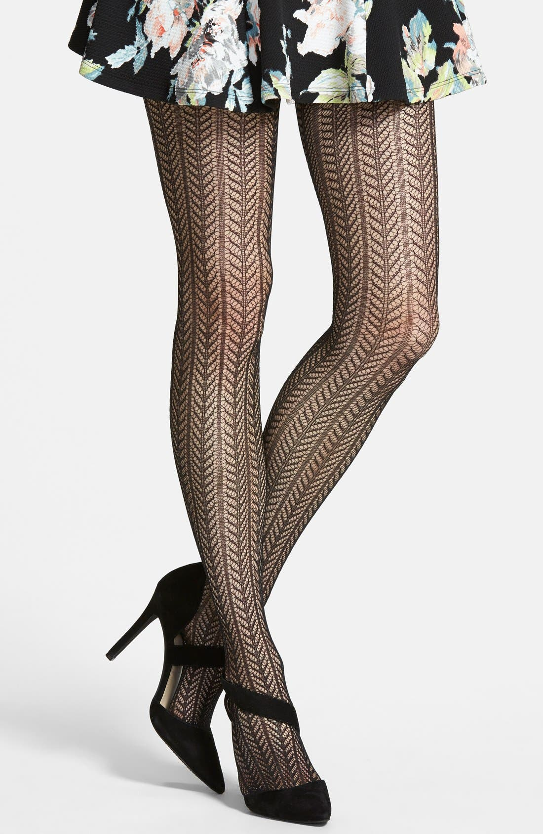 'Pelerine' Openwork Tights, Main, color, 007