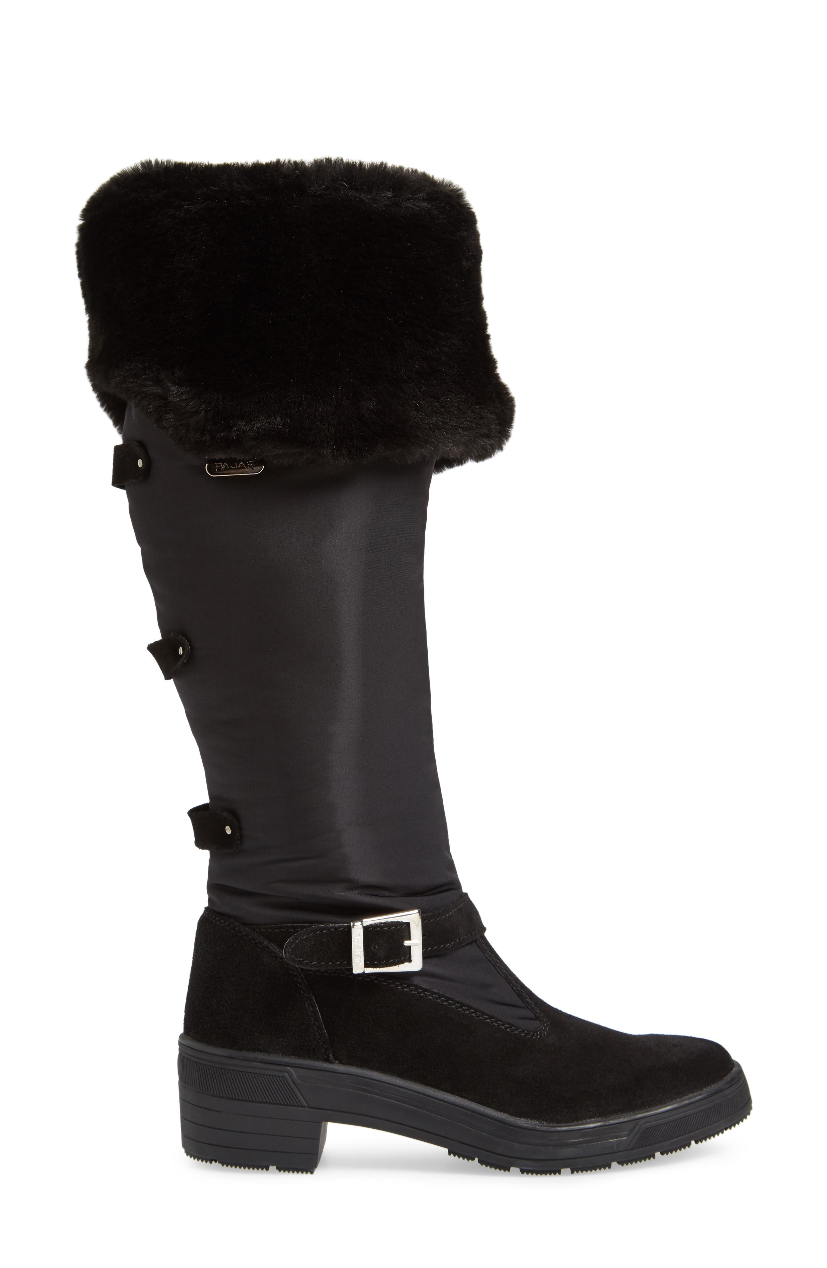 Norah Waterproof Boot with Faux Fur Cuff,                             Alternate thumbnail 3, color,