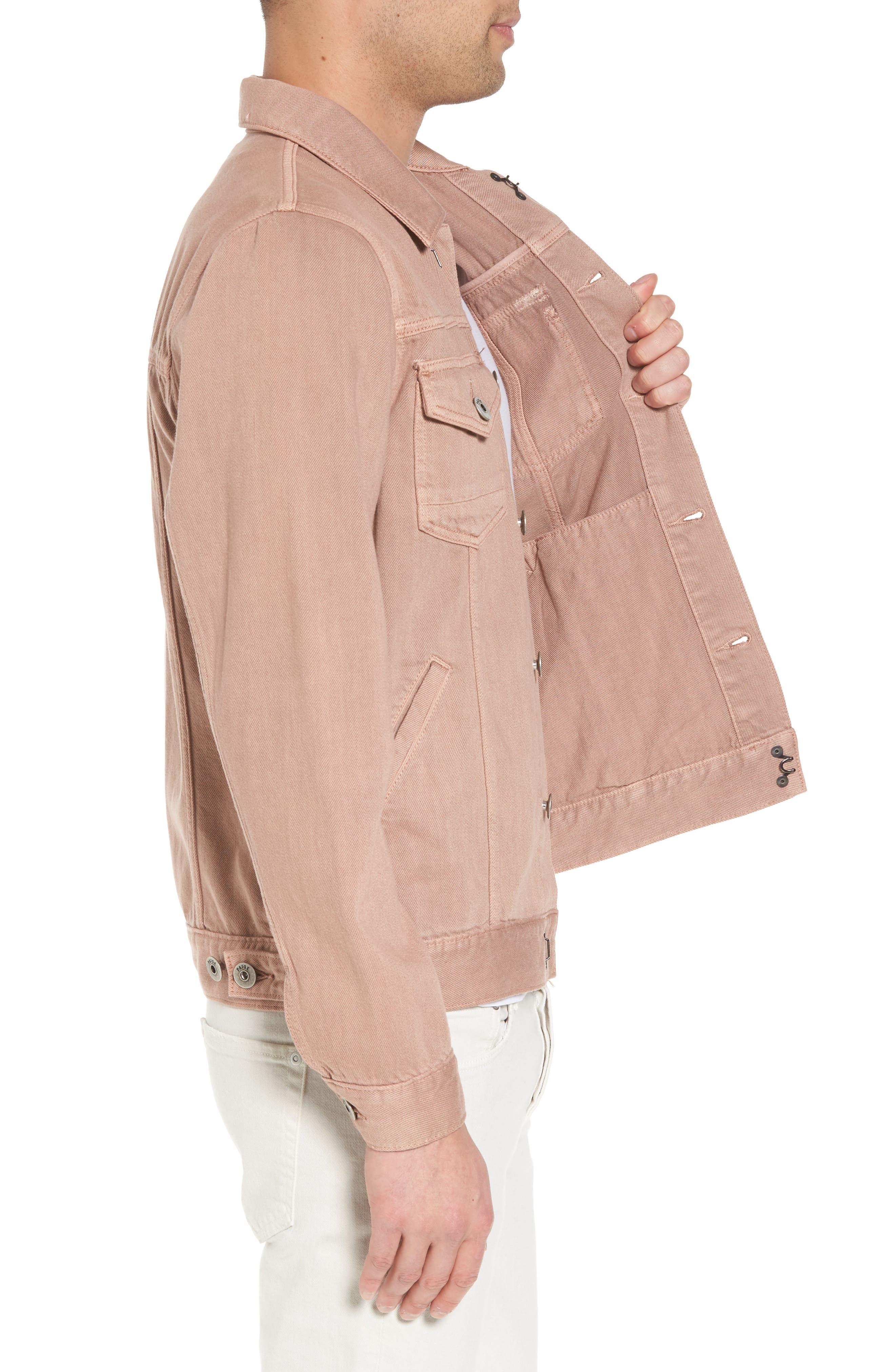Scout Denim Jacket,                             Alternate thumbnail 3, color,                             VINTAGE DUSTY ROSE