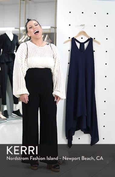 Draped Racerback Georgette Trapeze Dress, sales video thumbnail