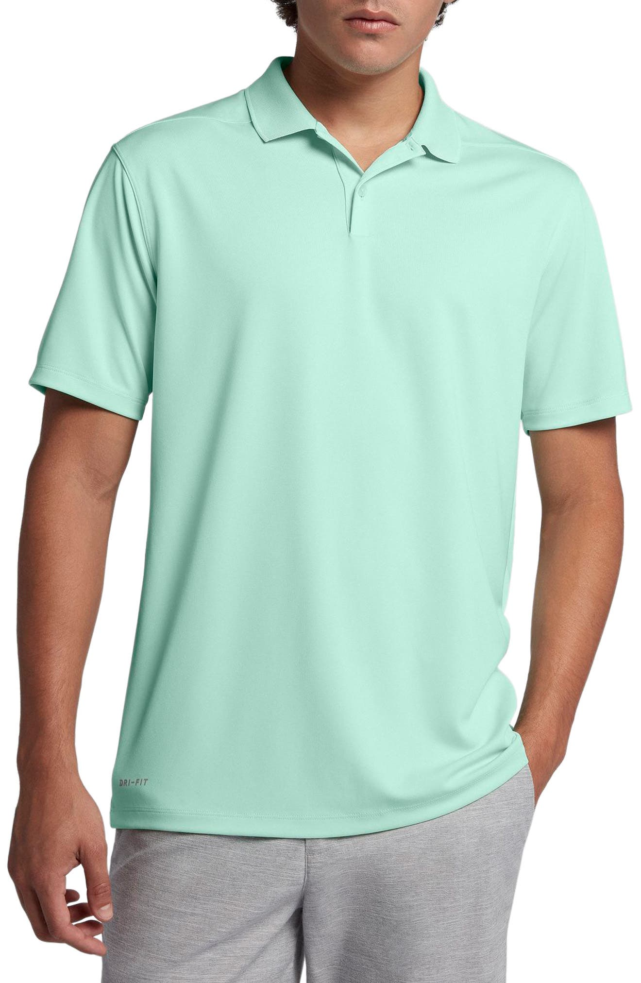 Dry Victory Golf Polo, Main, color, IGLOO/ FLT SILVER