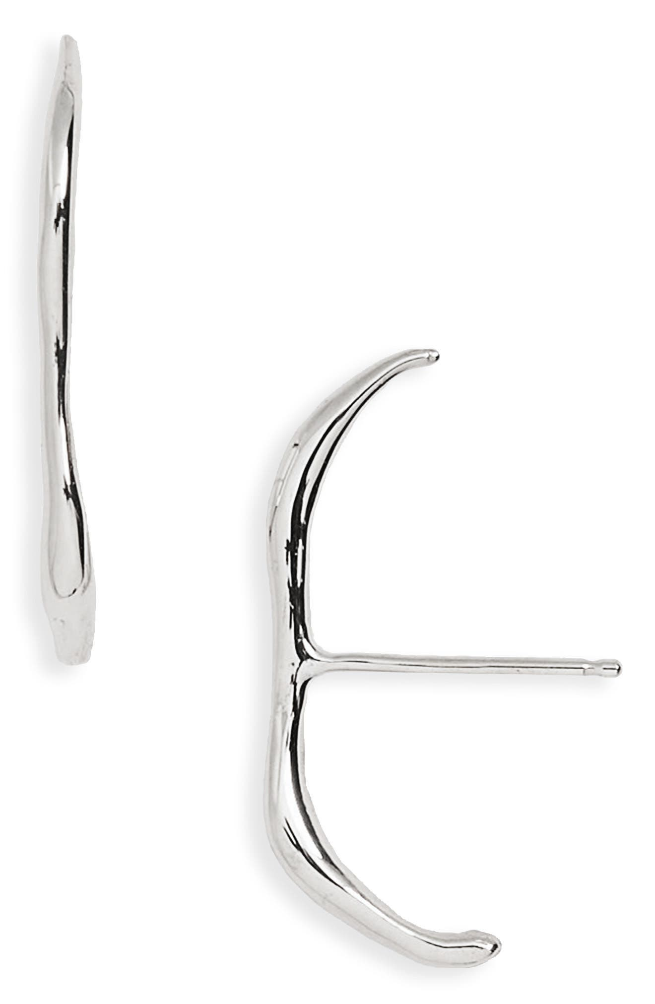 Vero Stud Earrings,                             Main thumbnail 1, color,                             STERLING SILVER