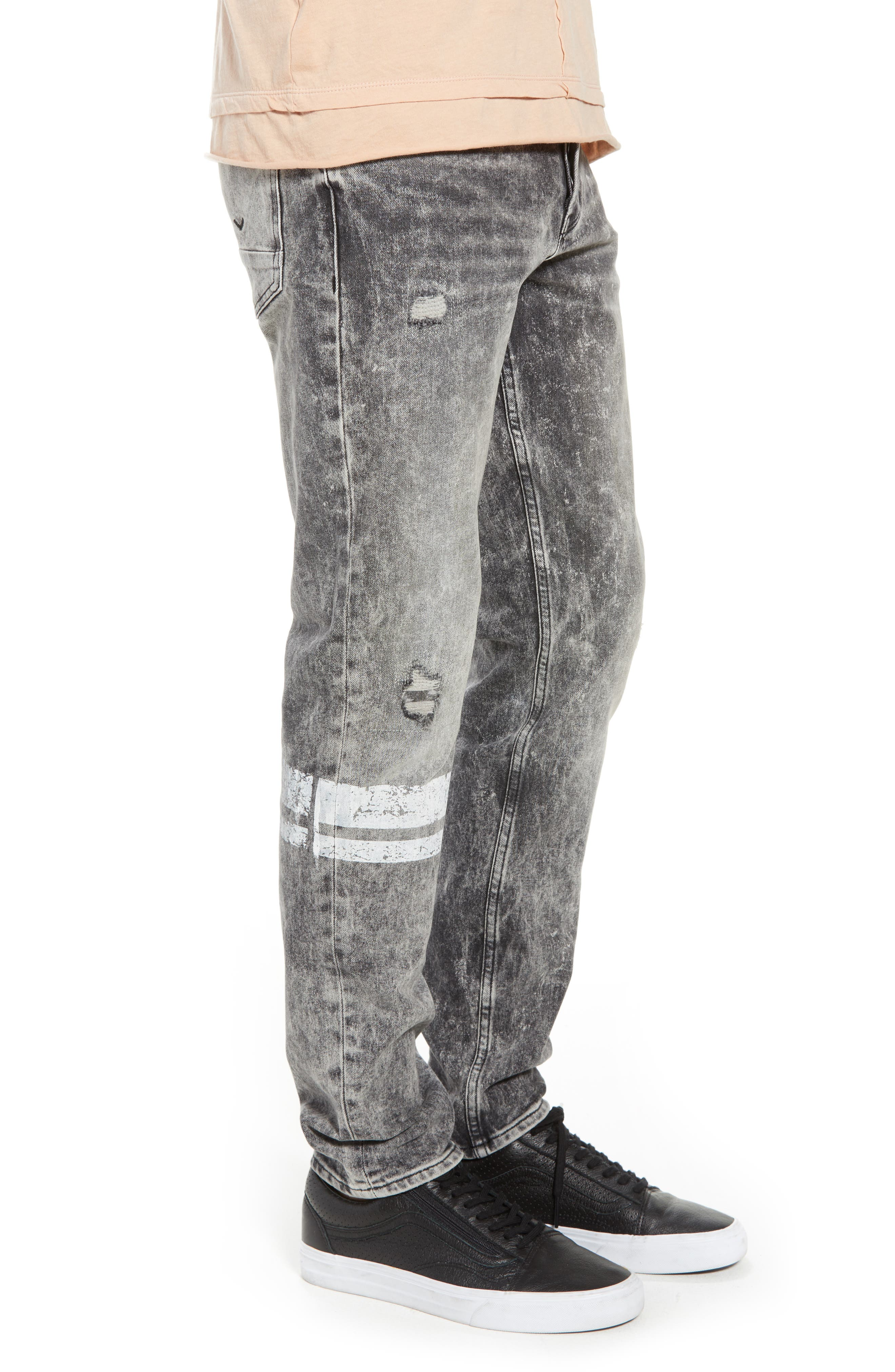 Sartor Slouchy Skinny Fit Jeans,                             Alternate thumbnail 3, color,                             001