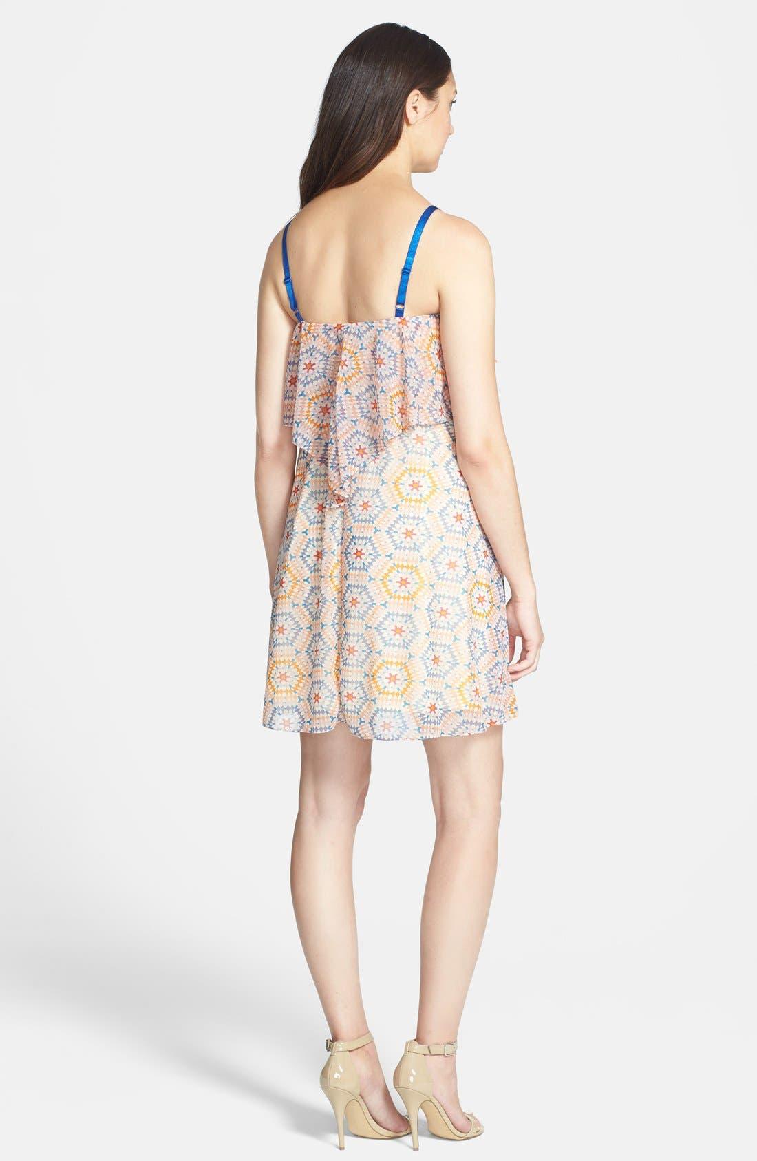 Ruffle Maternity Dress,                             Alternate thumbnail 2, color,                             MOSAIC PRINT