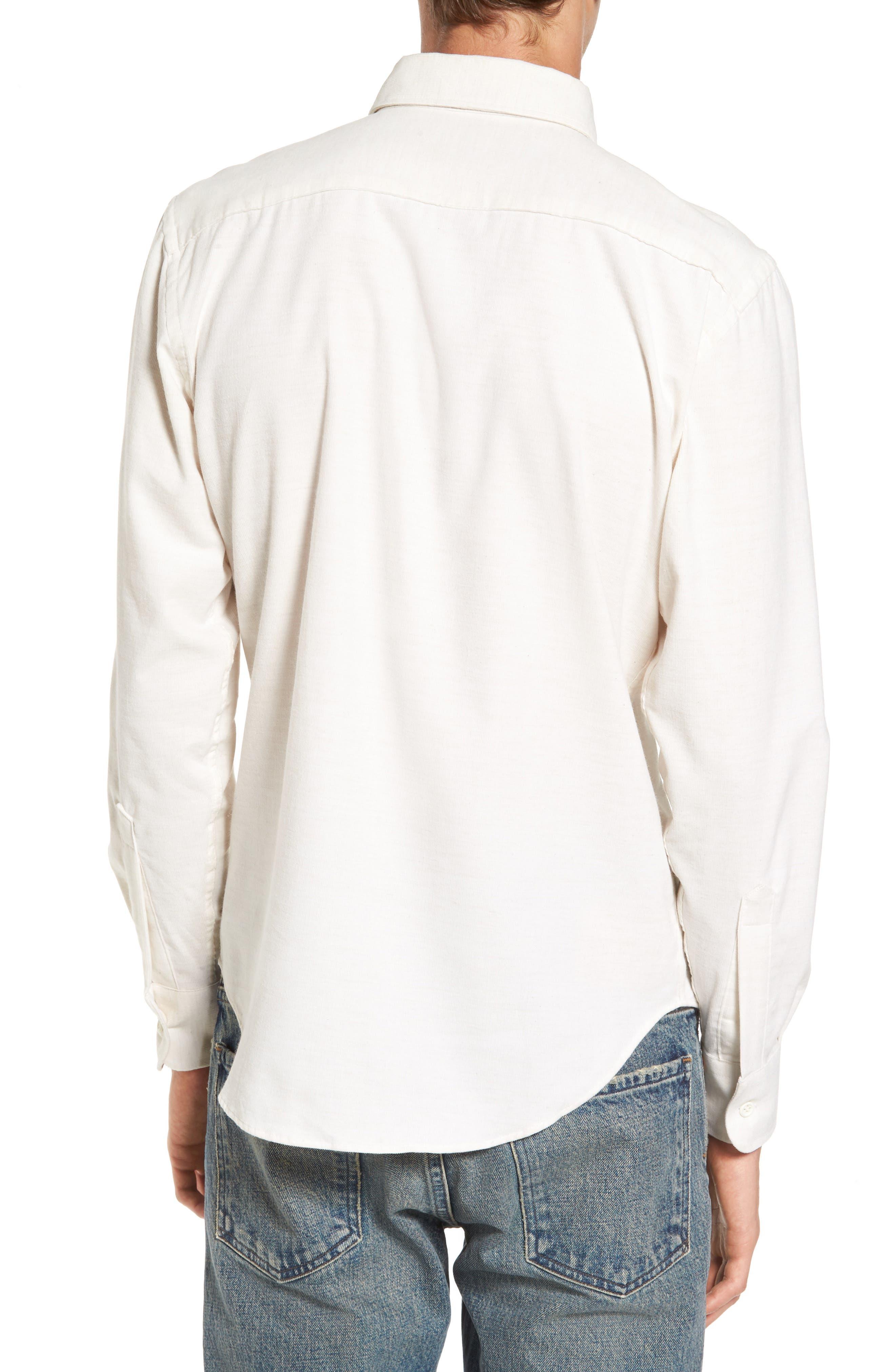 Corduroy Button Down Shirt,                             Alternate thumbnail 2, color,                             100