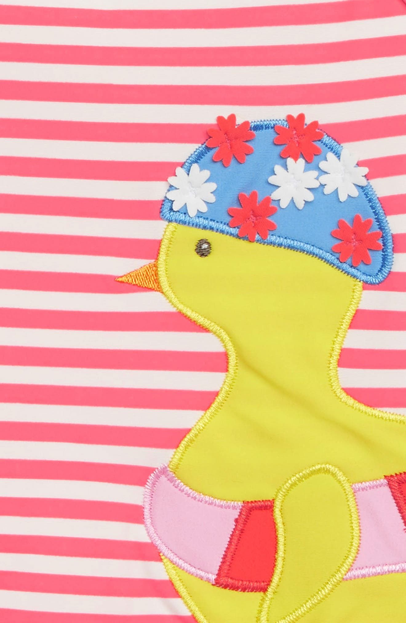 Pretty Frill Appliqué One-Piece Swimsuit,                             Alternate thumbnail 2, color,                             PNK BRUSH PINK/ IVORY CHICK