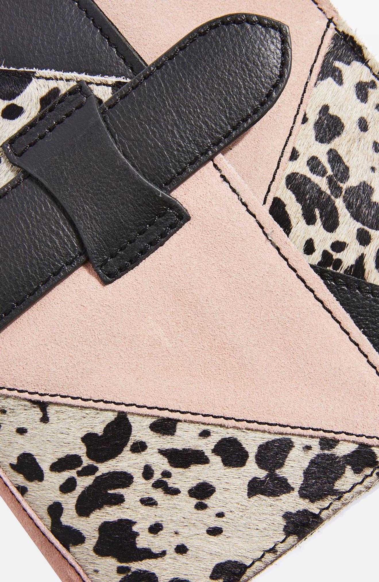 Premium Leather & Genuine Calf Hair Patchwork Crossbody Bag,                             Alternate thumbnail 4, color,                             001