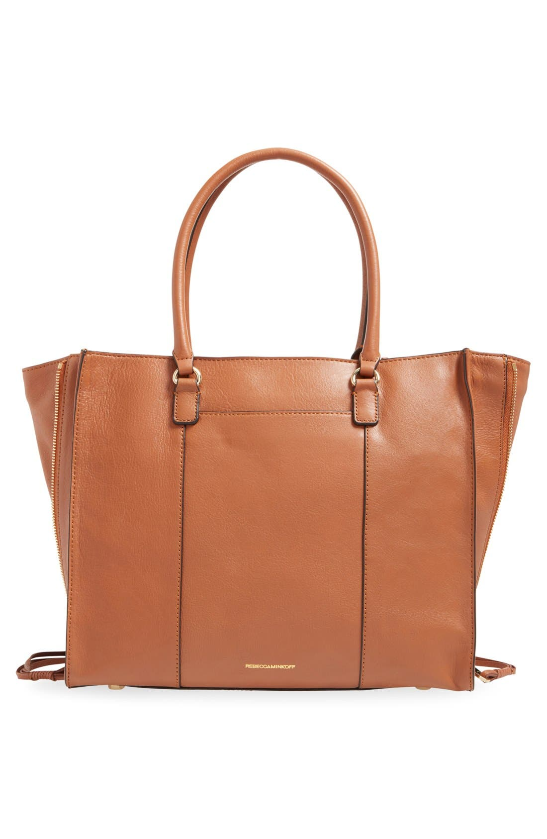 'Side Zip Regan' Tote,                             Alternate thumbnail 21, color,