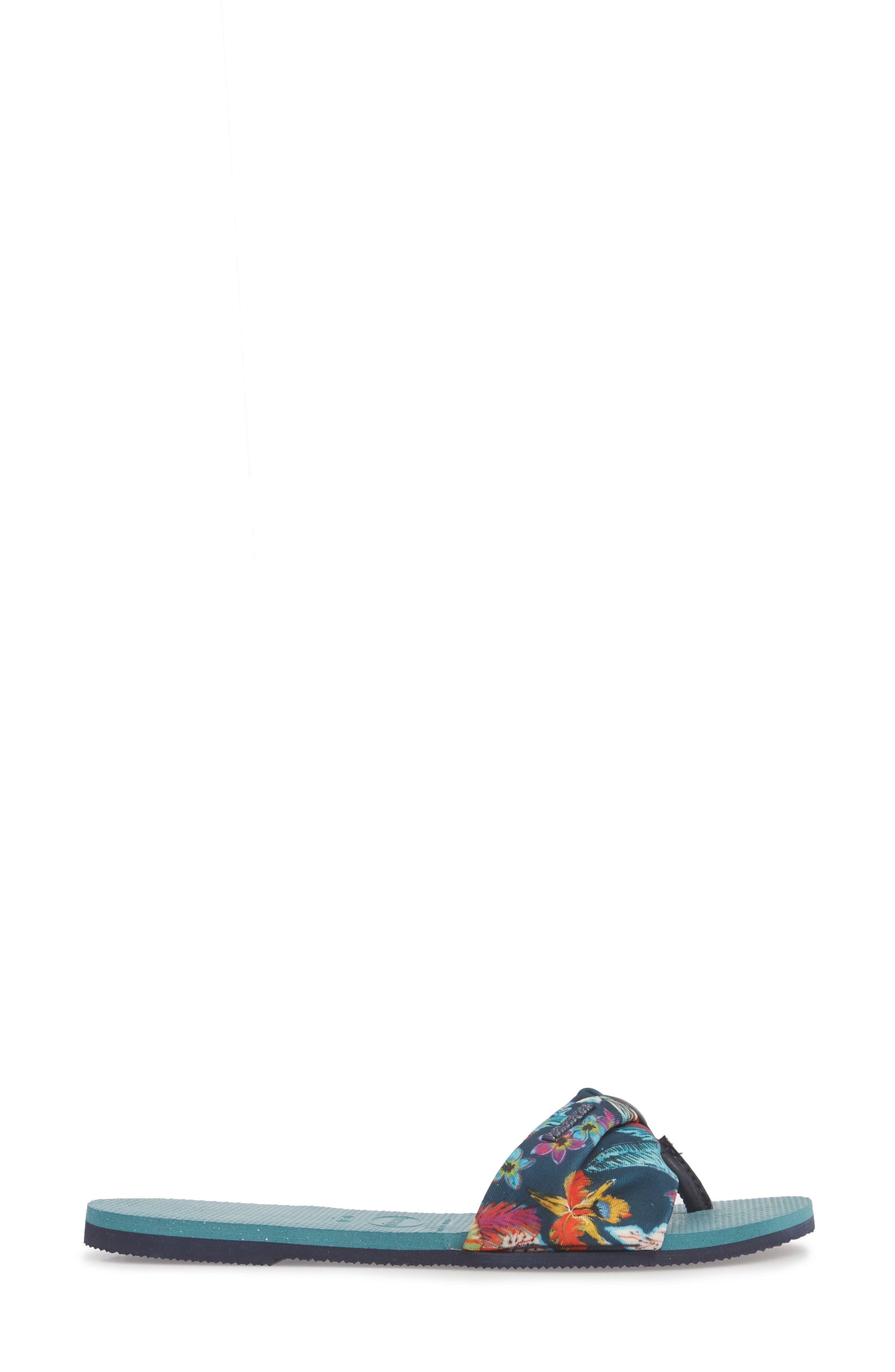 You Saint Tropez Sandal,                             Alternate thumbnail 3, color,                             MINERAL BLUE