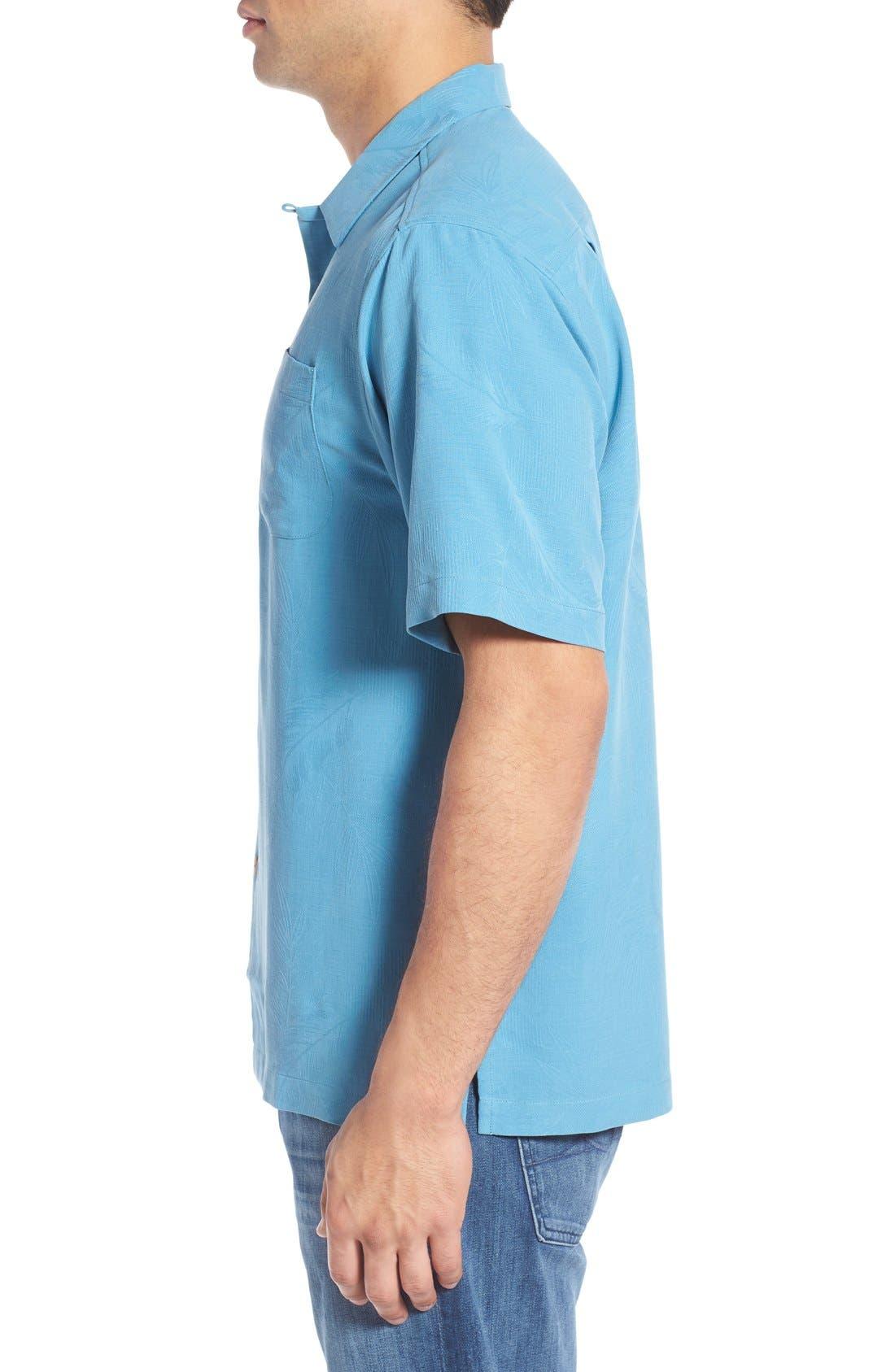 Rio Fronds Short Sleeve Silk Sport Shirt,                             Alternate thumbnail 41, color,