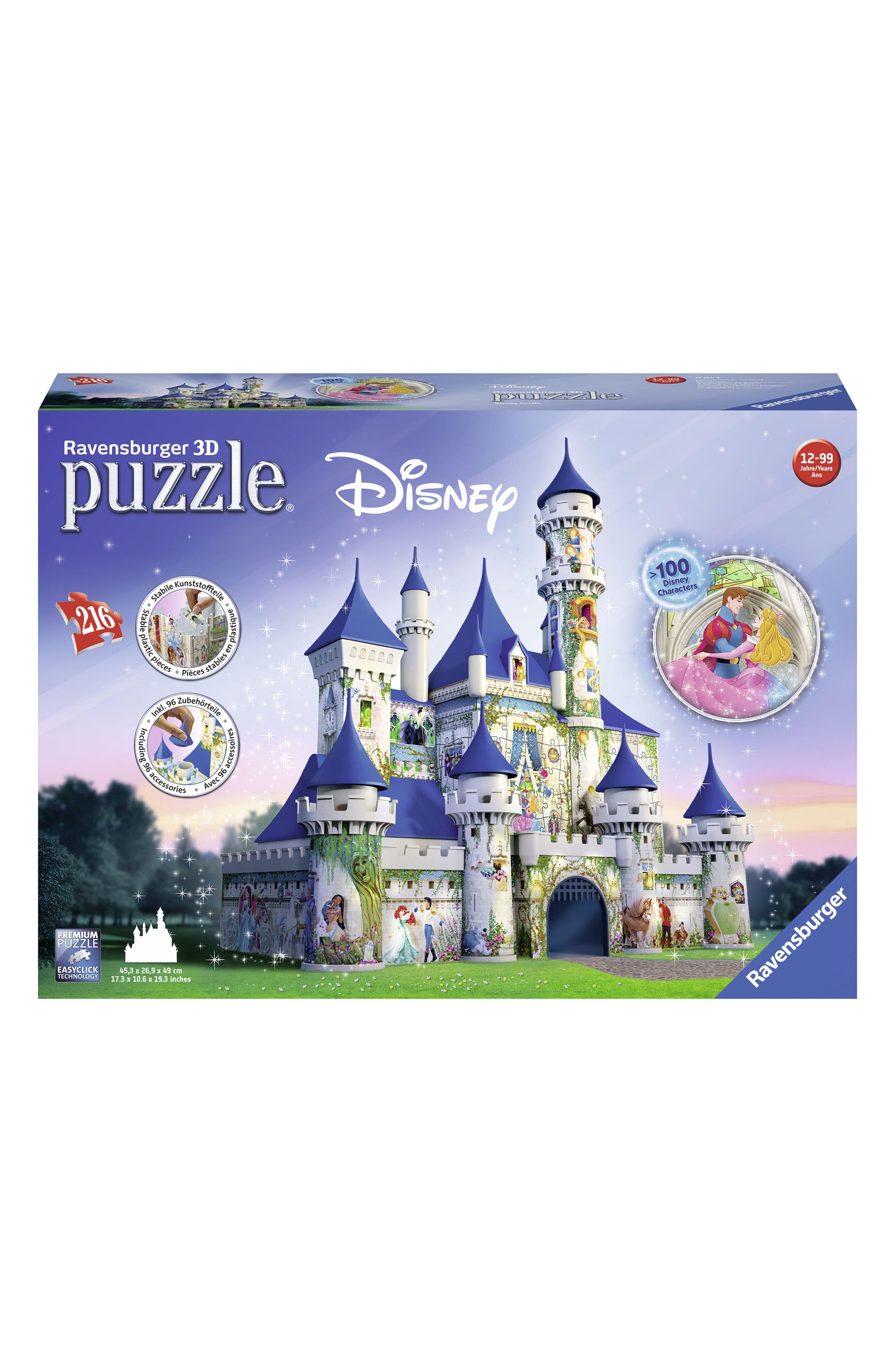 216-Piece Disney 3D Castle Puzzle,                             Main thumbnail 1, color,                             400