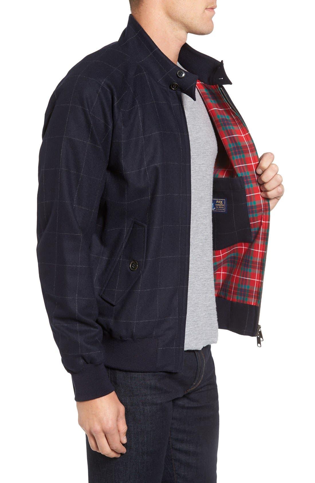 Wool G9 Harrington Jacket,                             Alternate thumbnail 4, color,                             462