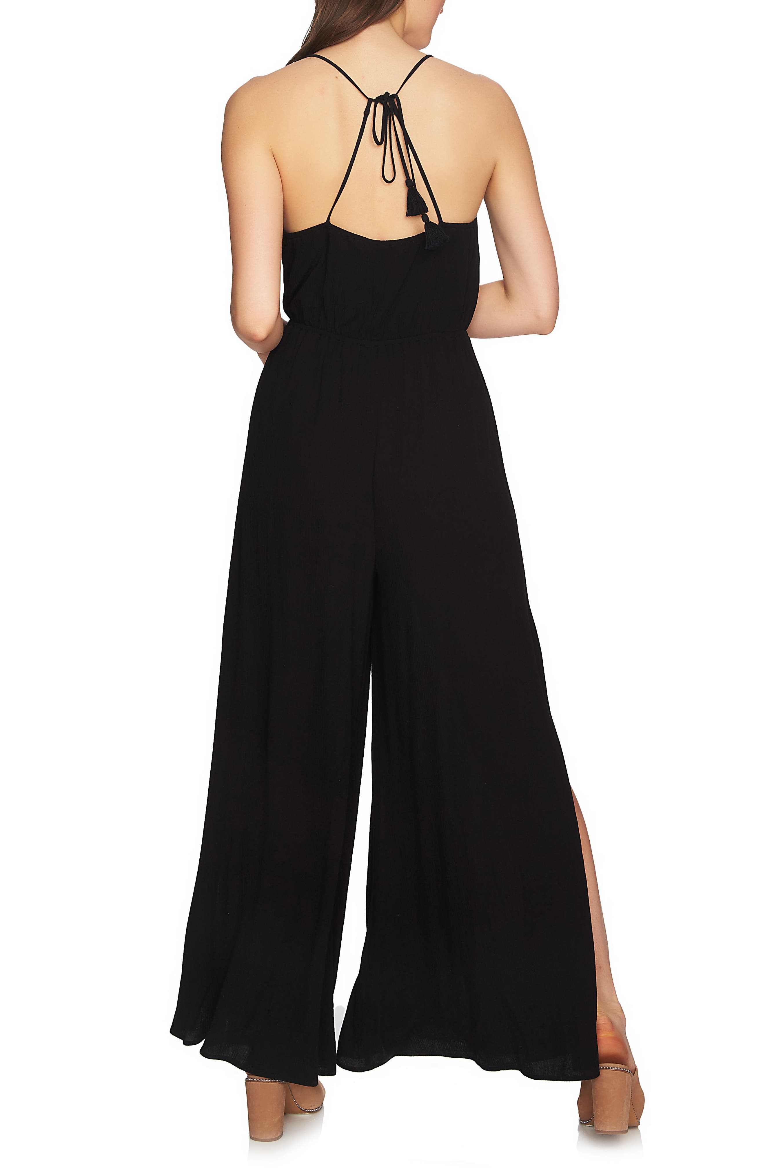 Embroidered Halter Jumpsuit,                             Alternate thumbnail 2, color,                             006